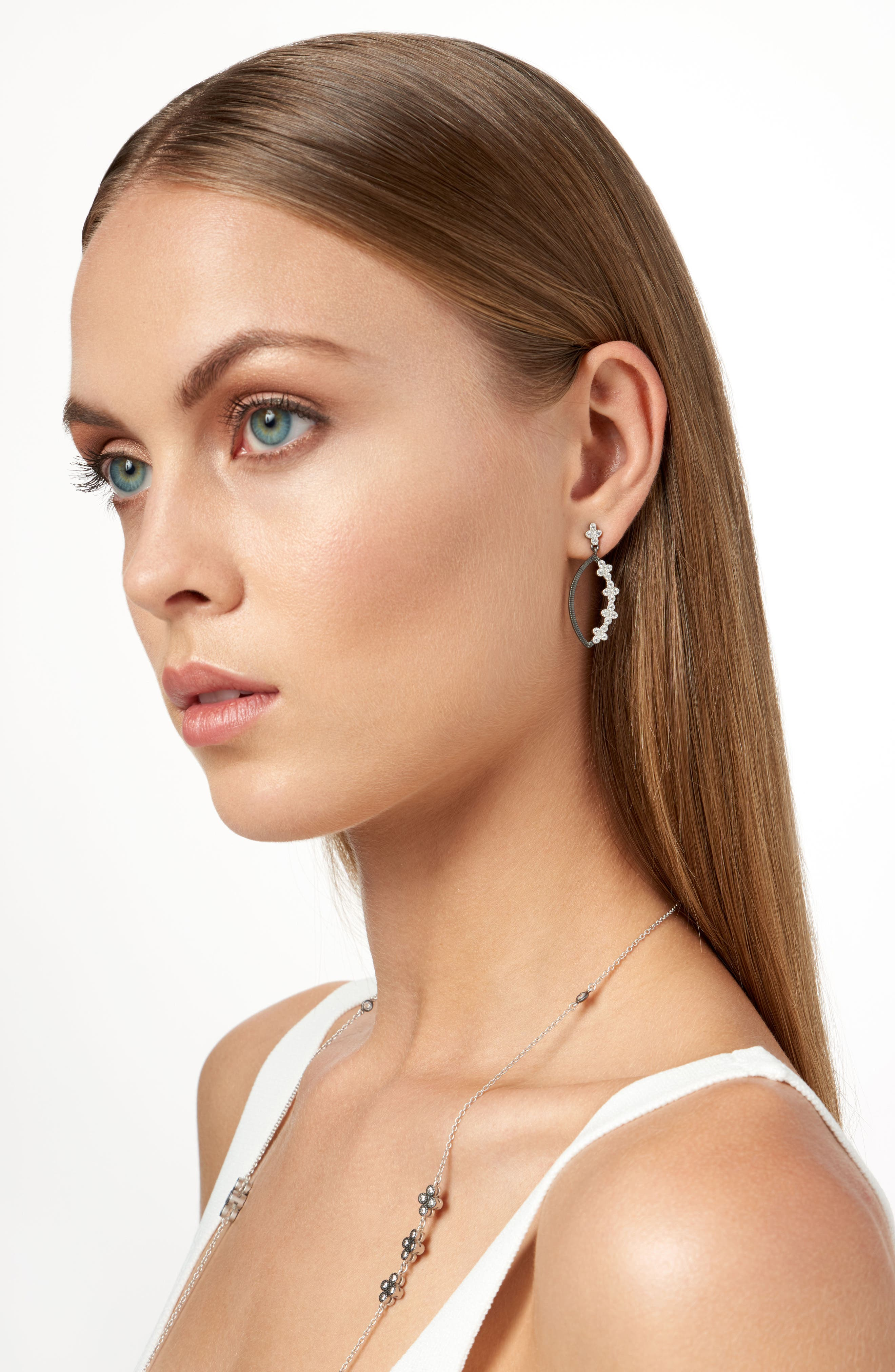 Industrial Finish Marquise Drop Earrings,                             Alternate thumbnail 2, color,                             049