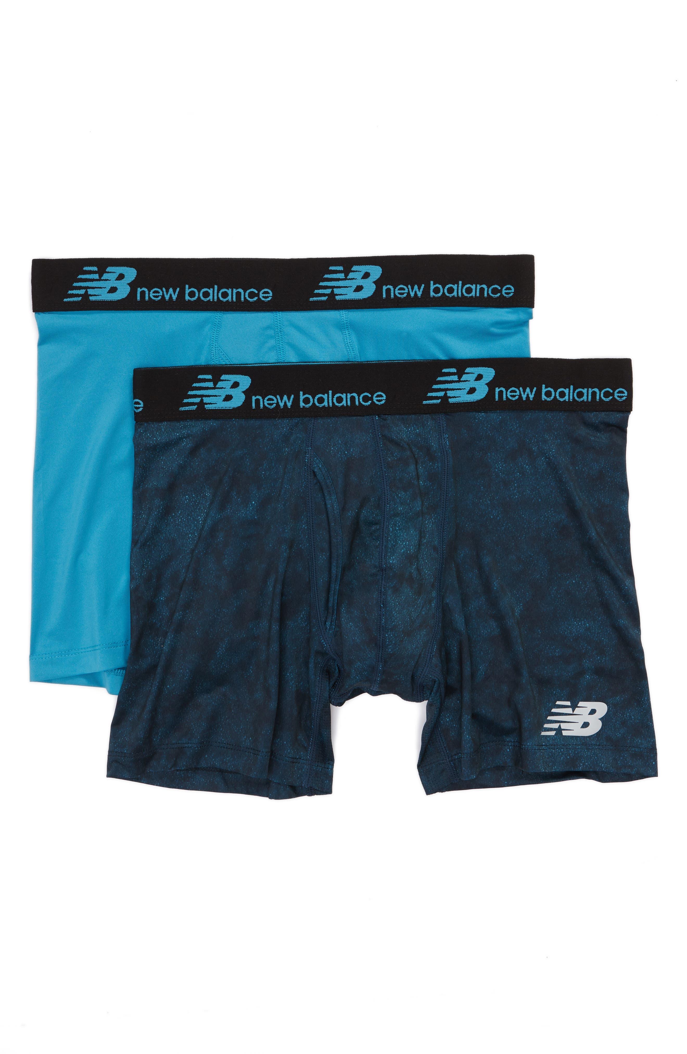 New Balance 2-Pack Boxer Briefs, Blue