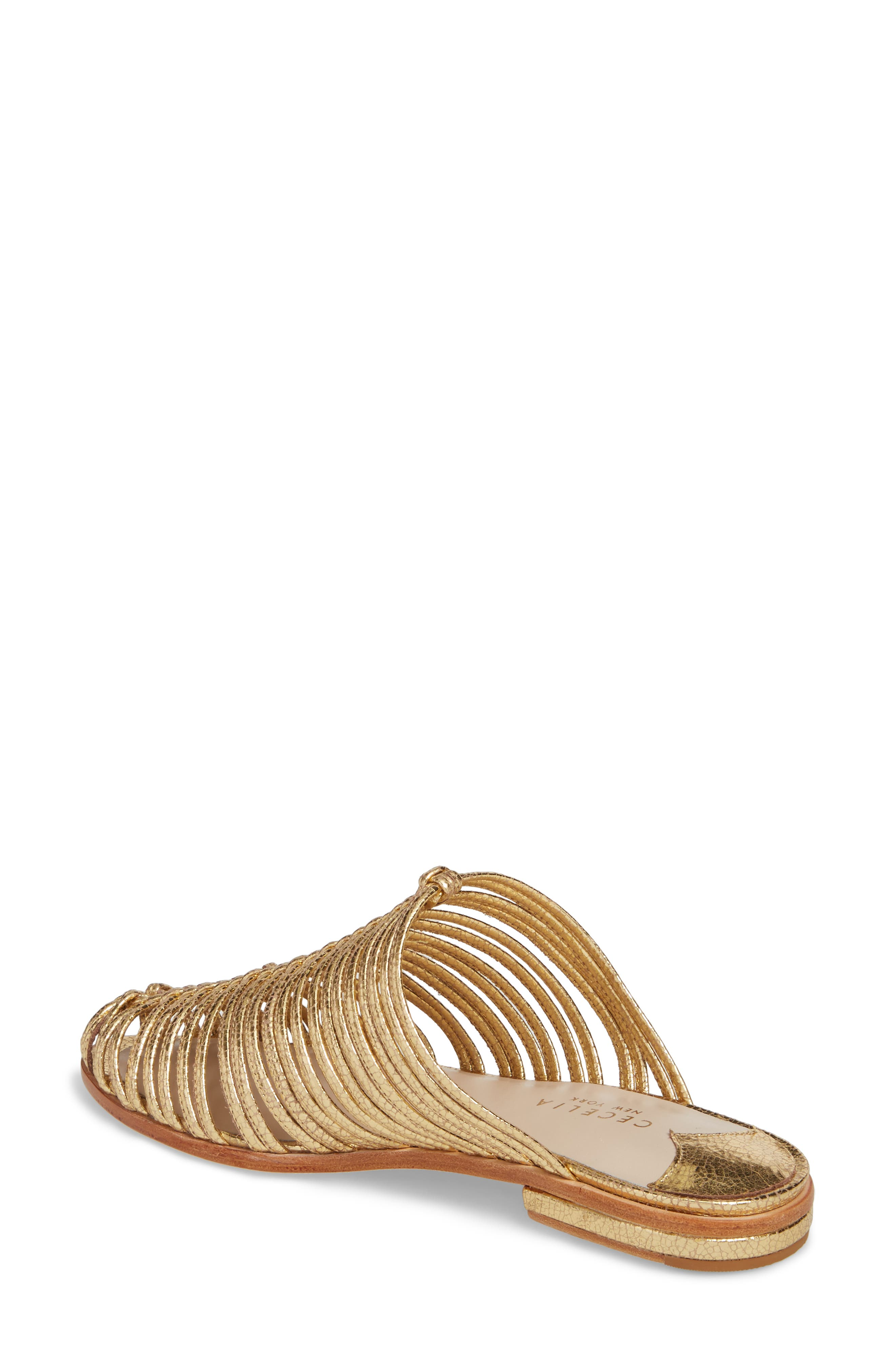 Gloria Sandal,                             Alternate thumbnail 2, color,                             GOLD LEATHER
