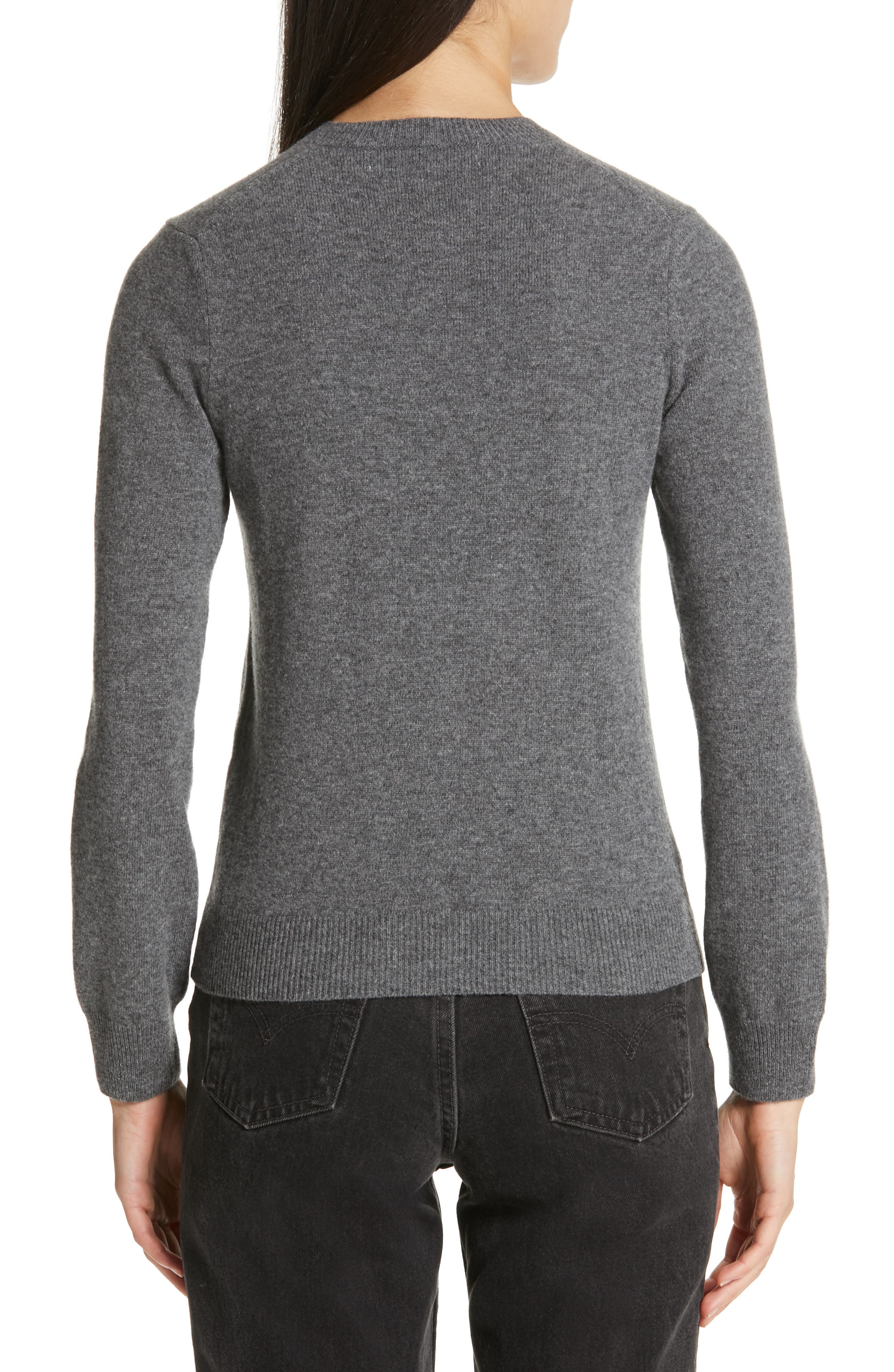 Heart Wool Pullover,                             Alternate thumbnail 2, color,                             GREY