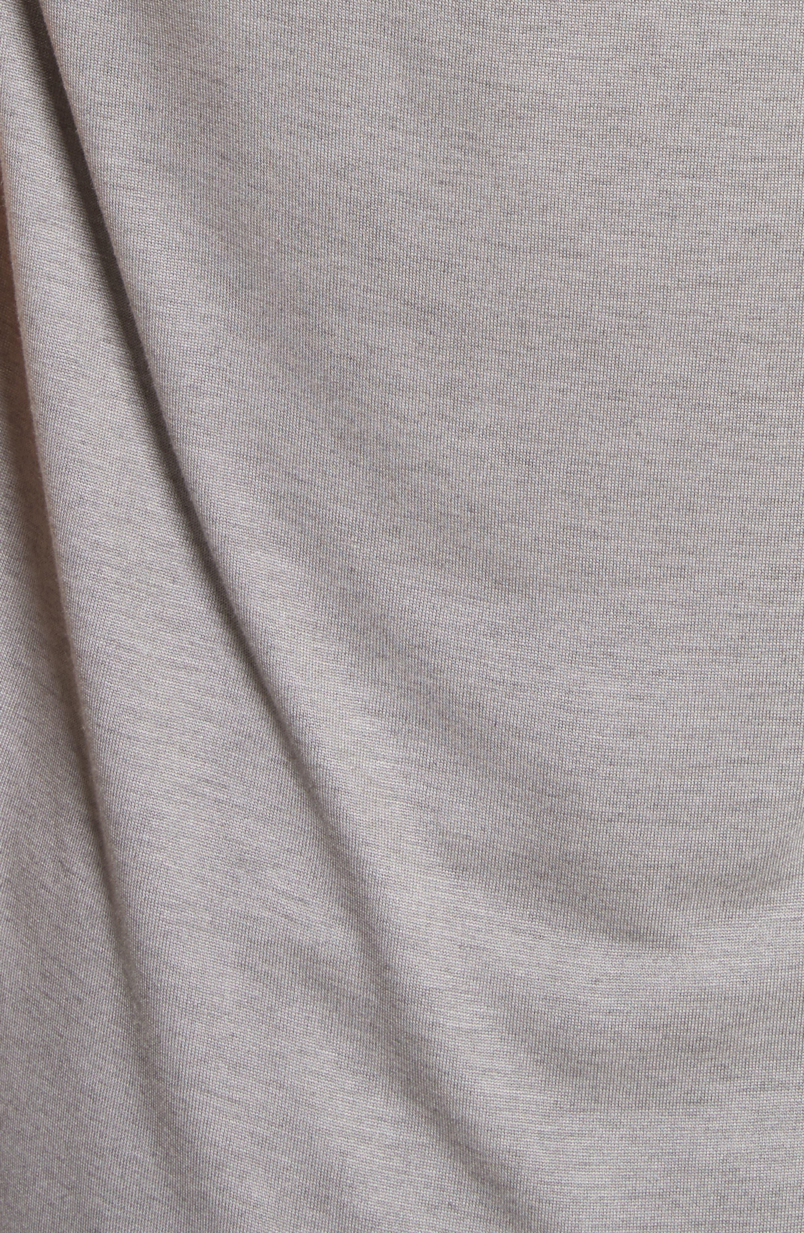 Silk Crêpe de Chine & Jersey Blouse,                             Alternate thumbnail 5, color,                             020