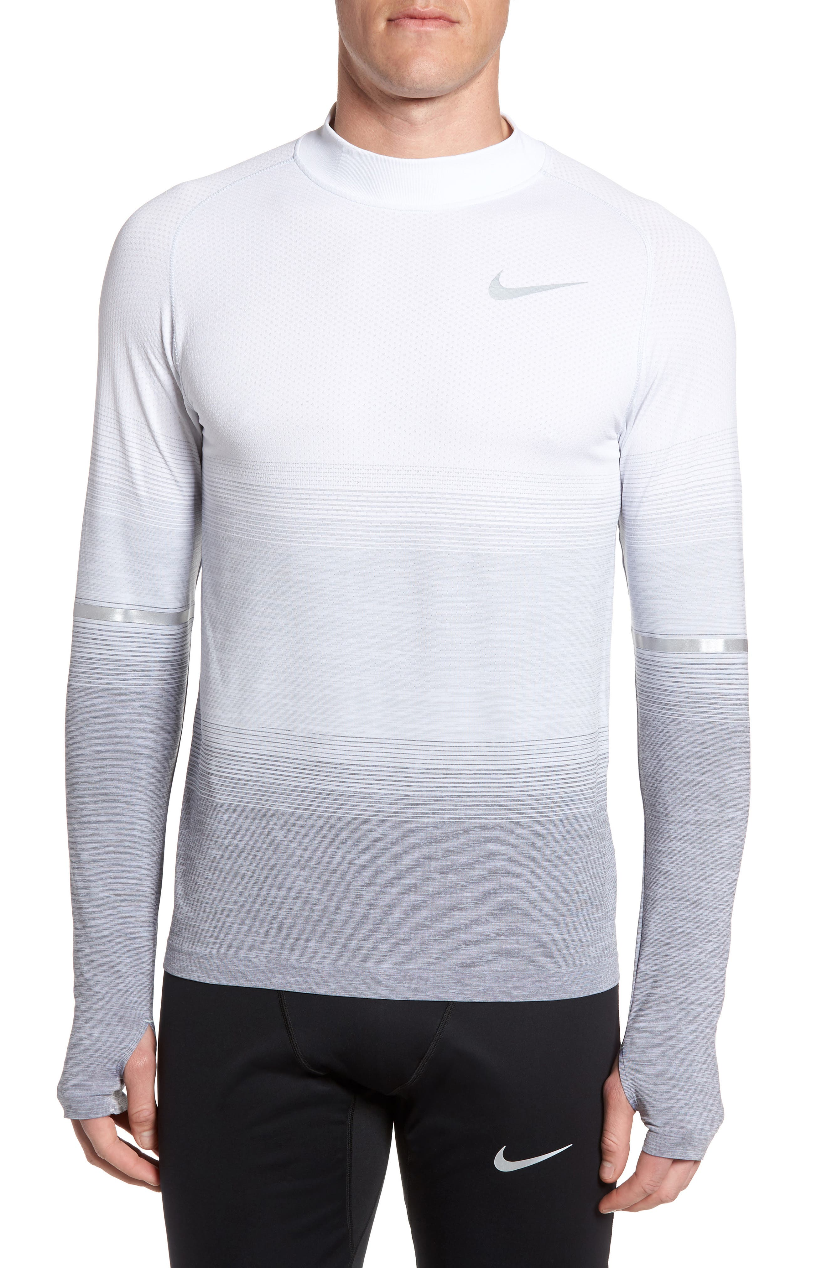 Dry Running Mock Neck Long Sleeve T-Shirt,                         Main,                         color,