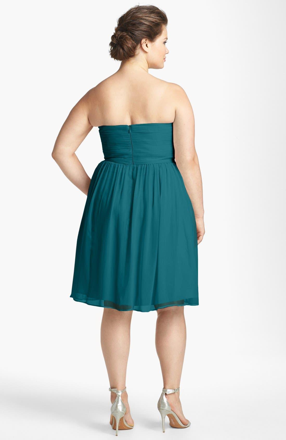 'Morgan' Strapless Silk Chiffon Dress,                             Alternate thumbnail 137, color,