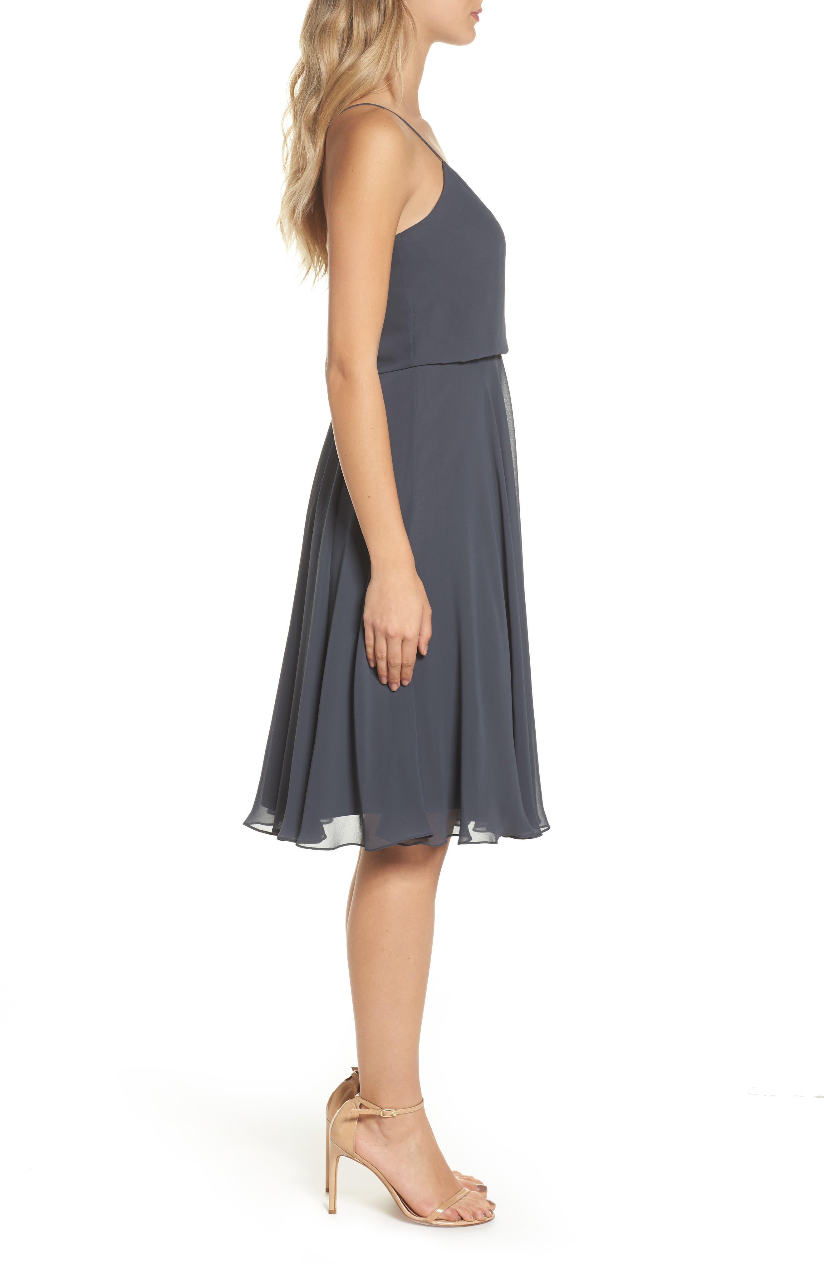 JENNY YOO,                             Sienna Chiffon Dress,                             Alternate thumbnail 3, color,                             026