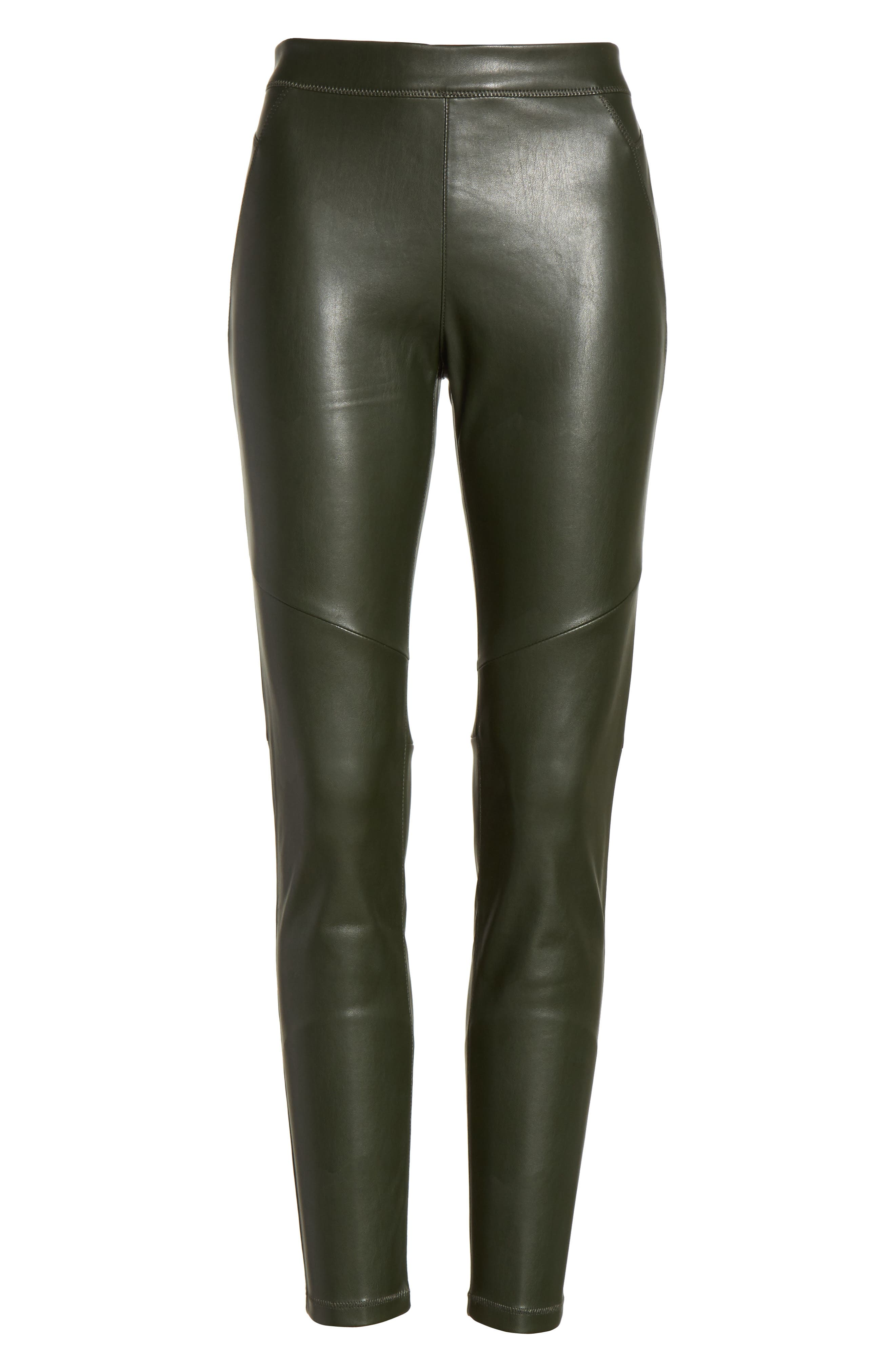 Faux Leather Leggings,                             Alternate thumbnail 7, color,                             303
