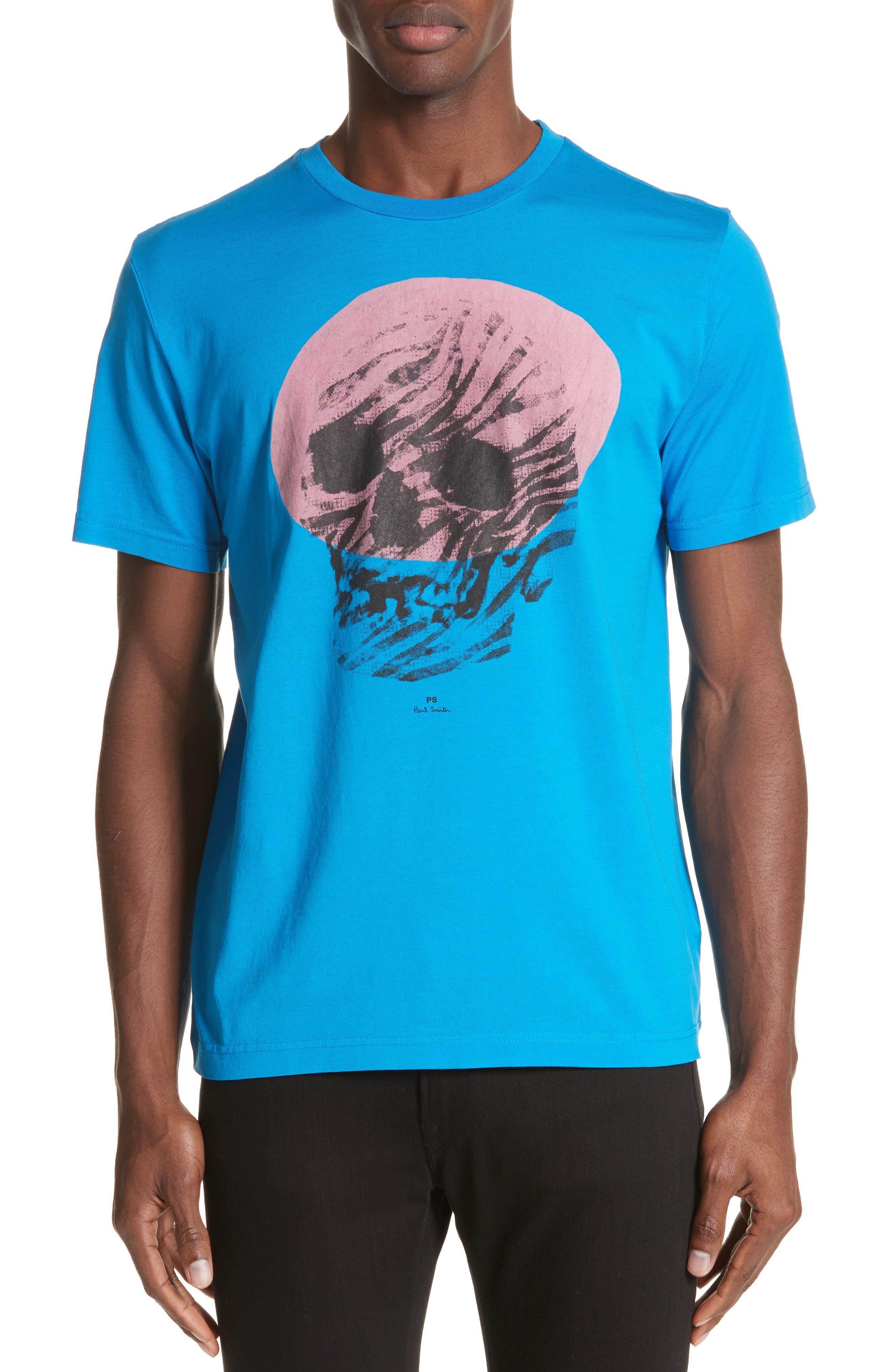 Skull Graphic T-Shirt,                             Main thumbnail 1, color,                             444