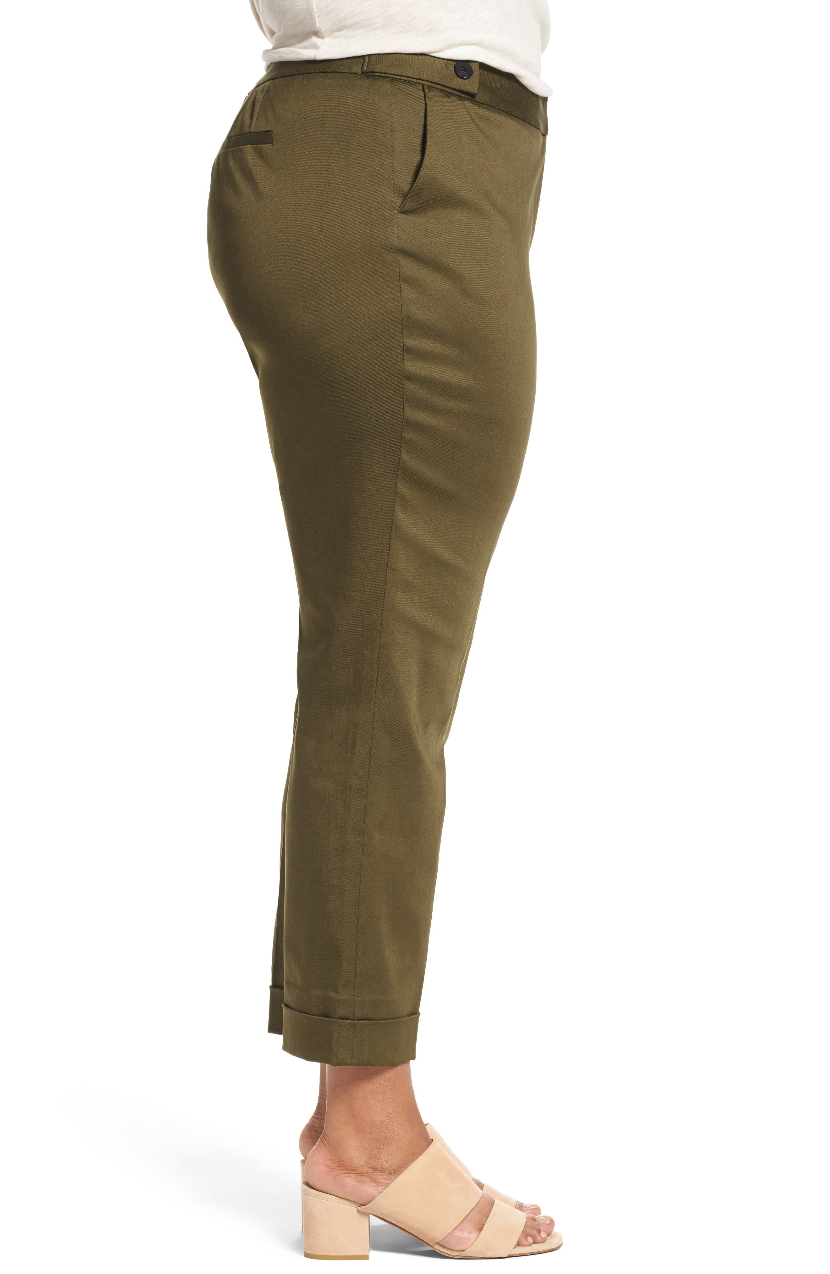Stretch Twill Ankle Pants,                             Alternate thumbnail 11, color,