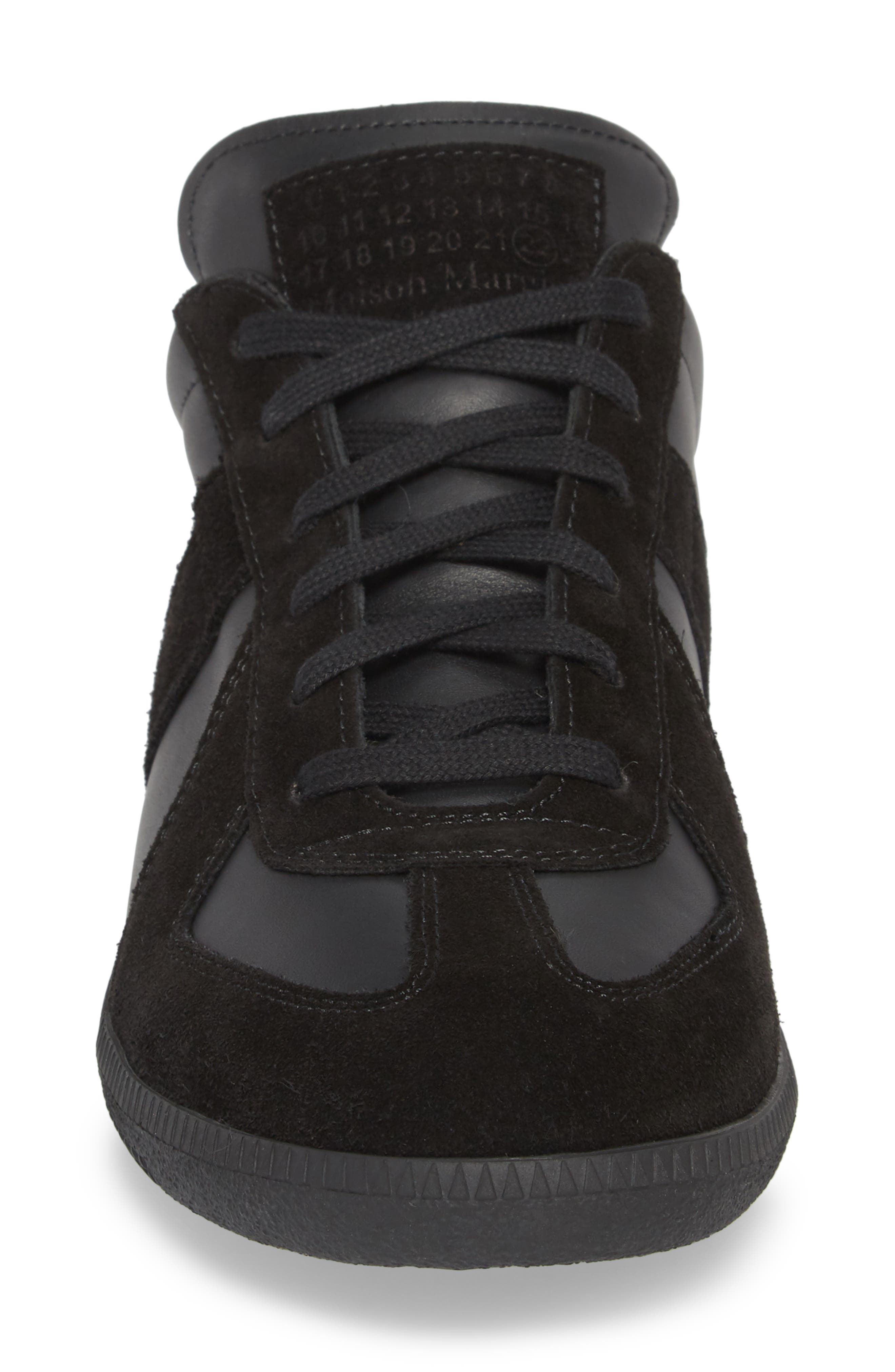 Maison Margiela Replica Low Top Sneaker,                             Alternate thumbnail 4, color,                             BLACK