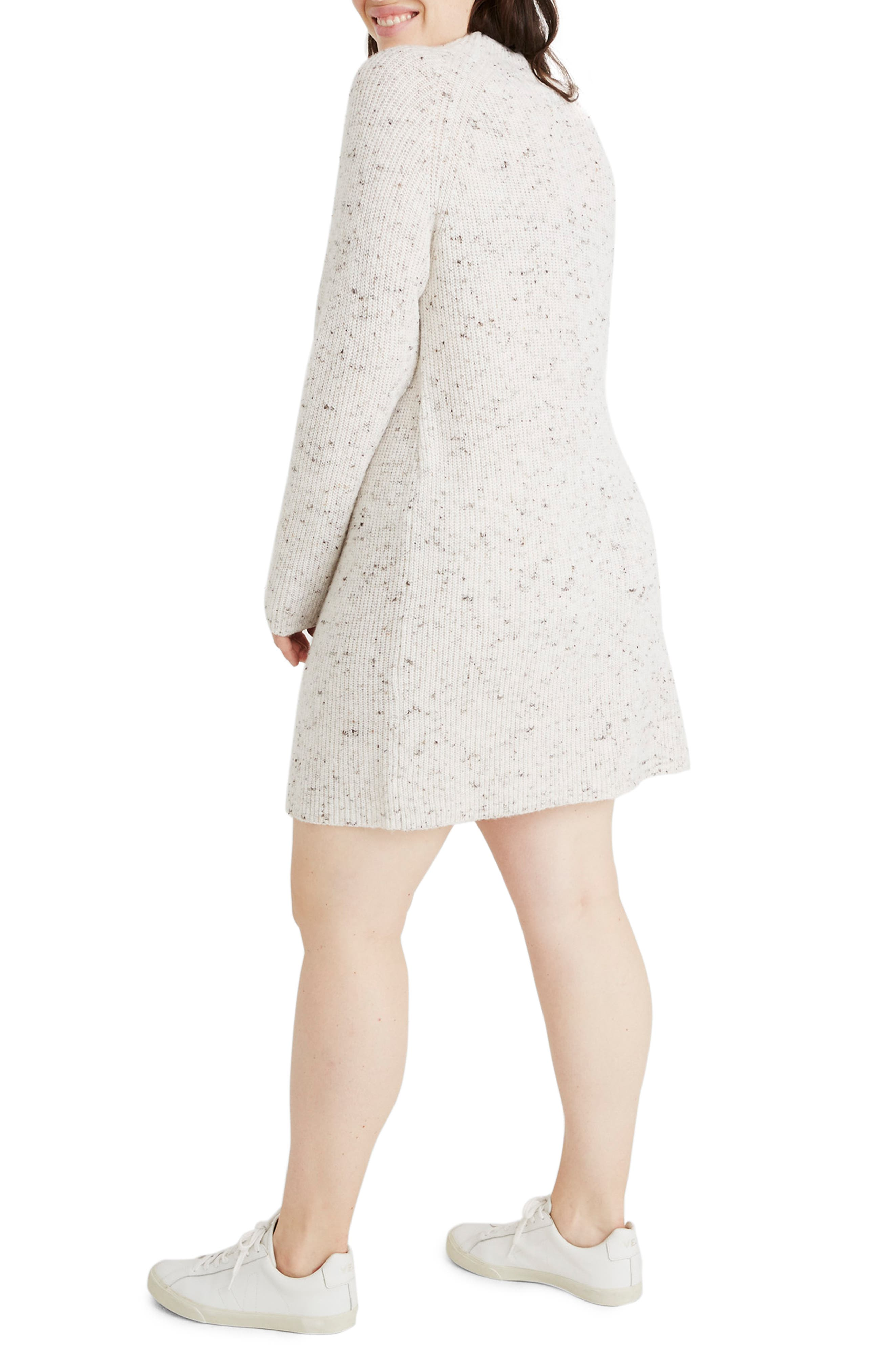 Northfield Donegal Mock Neck Sweater Dress,                             Alternate thumbnail 8, color,                             DONEGAL STORM