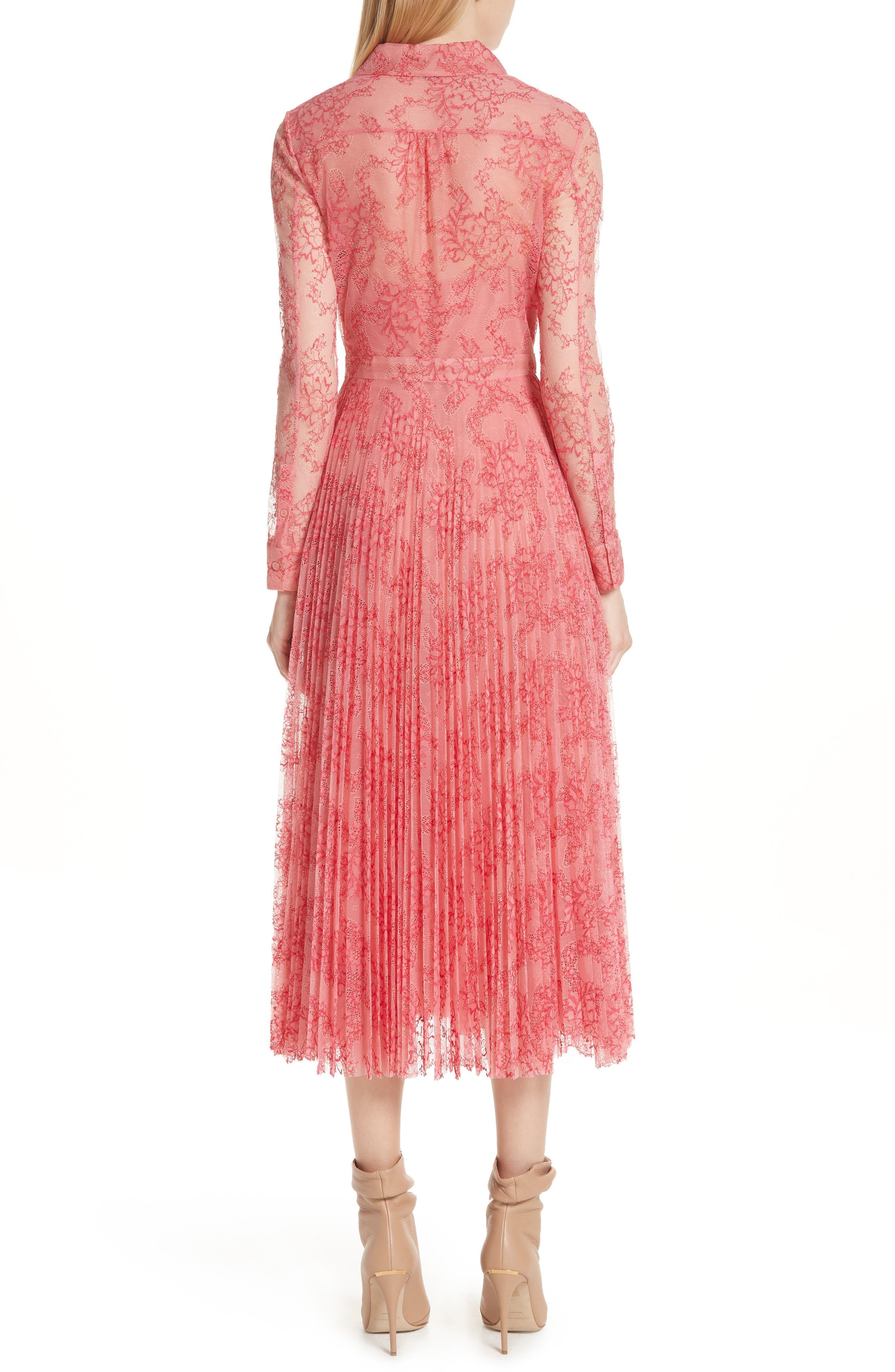 Clementine Floral Lace Midi Dress,                             Alternate thumbnail 2, color,                             956