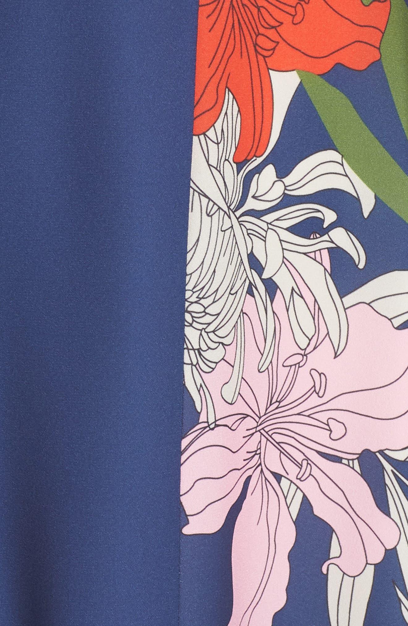 Palmira Maxi Dress,                             Alternate thumbnail 6, color,                             NAVY MULTI