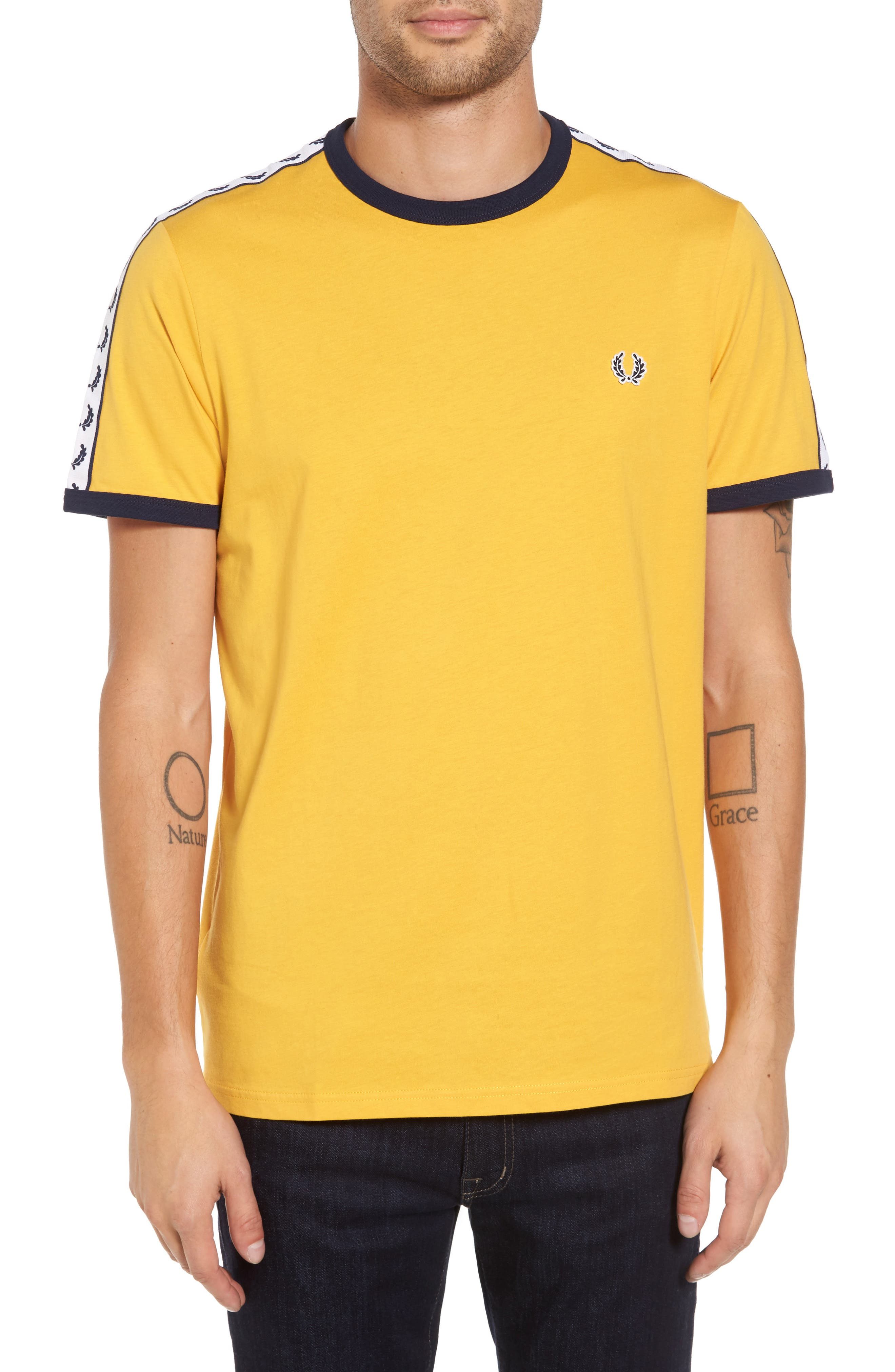 Extra Trim Fit Cotton Ringer T-Shirt,                             Main thumbnail 2, color,