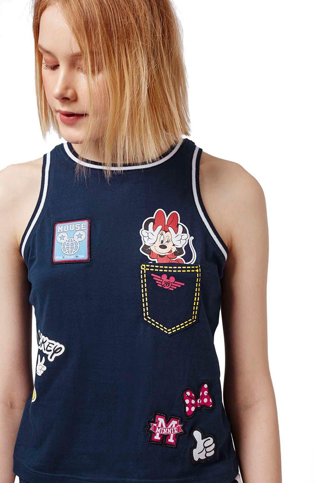 'Mickey & Minnie Mouse' Pajamas,                             Alternate thumbnail 3, color,                             410
