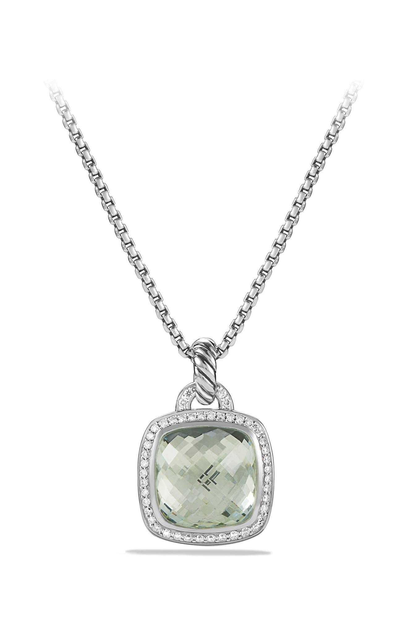 'Albion' Pendant with Semiprecious Stone and Diamonds,                             Alternate thumbnail 4, color,                             PRASIOLITE