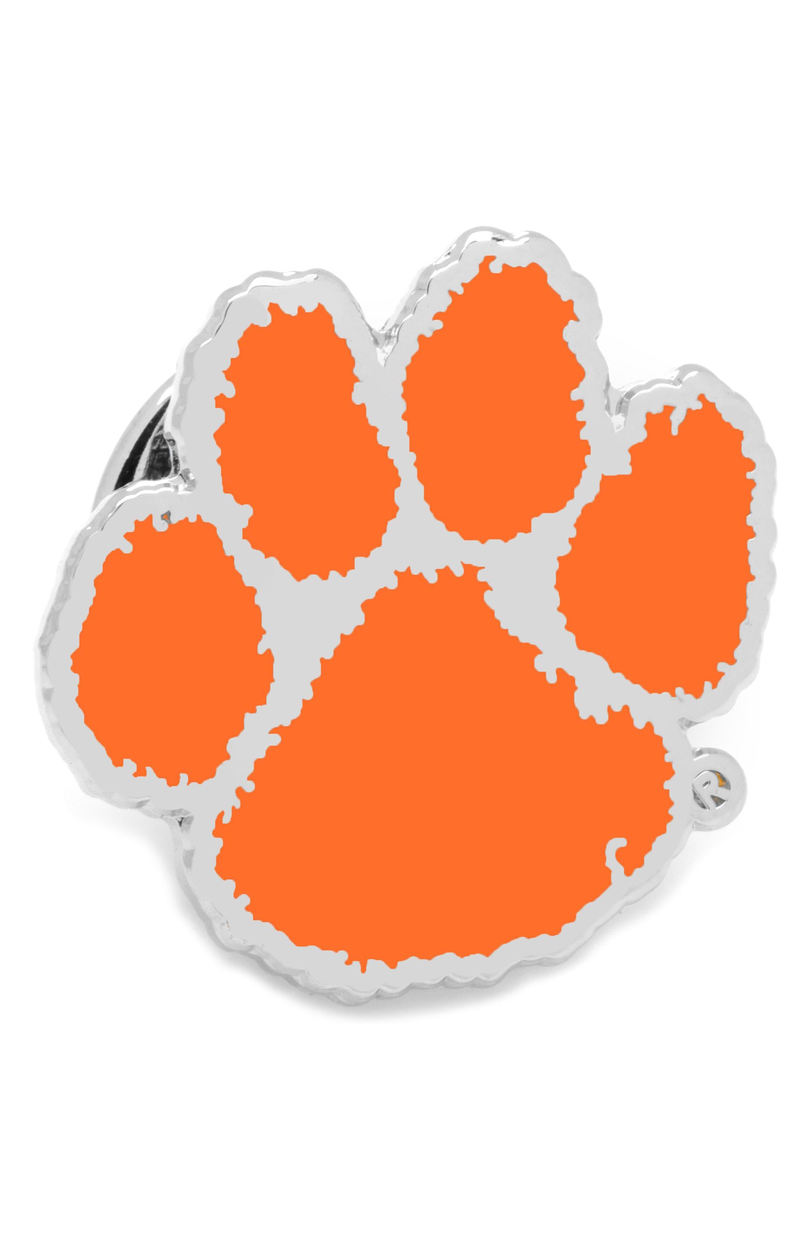 Clemson University Tigers Lapel Pin,                             Main thumbnail 1, color,                             ORANGE