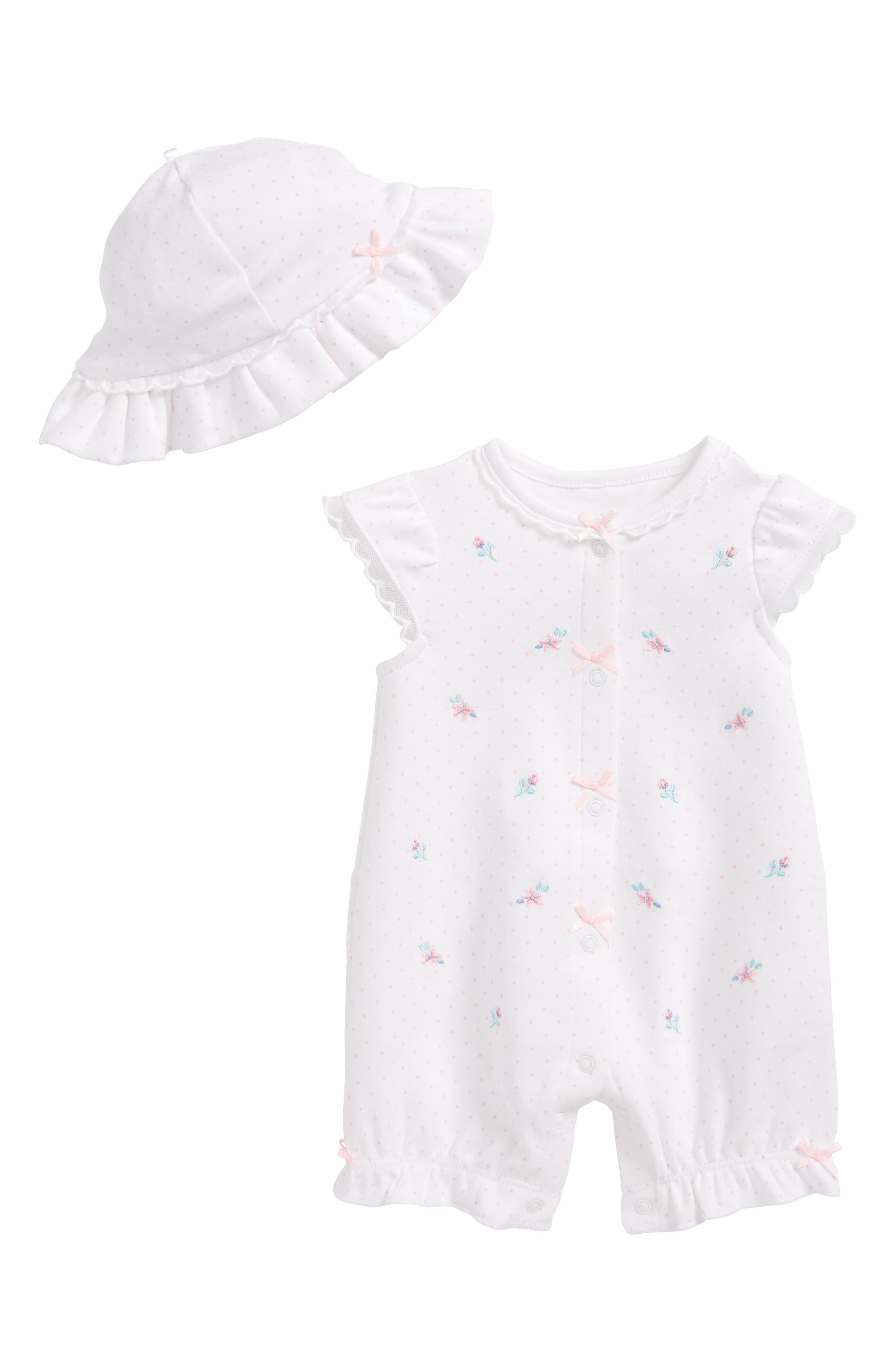 Whimsical Romper & Hat Set,                             Main thumbnail 1, color,                             118