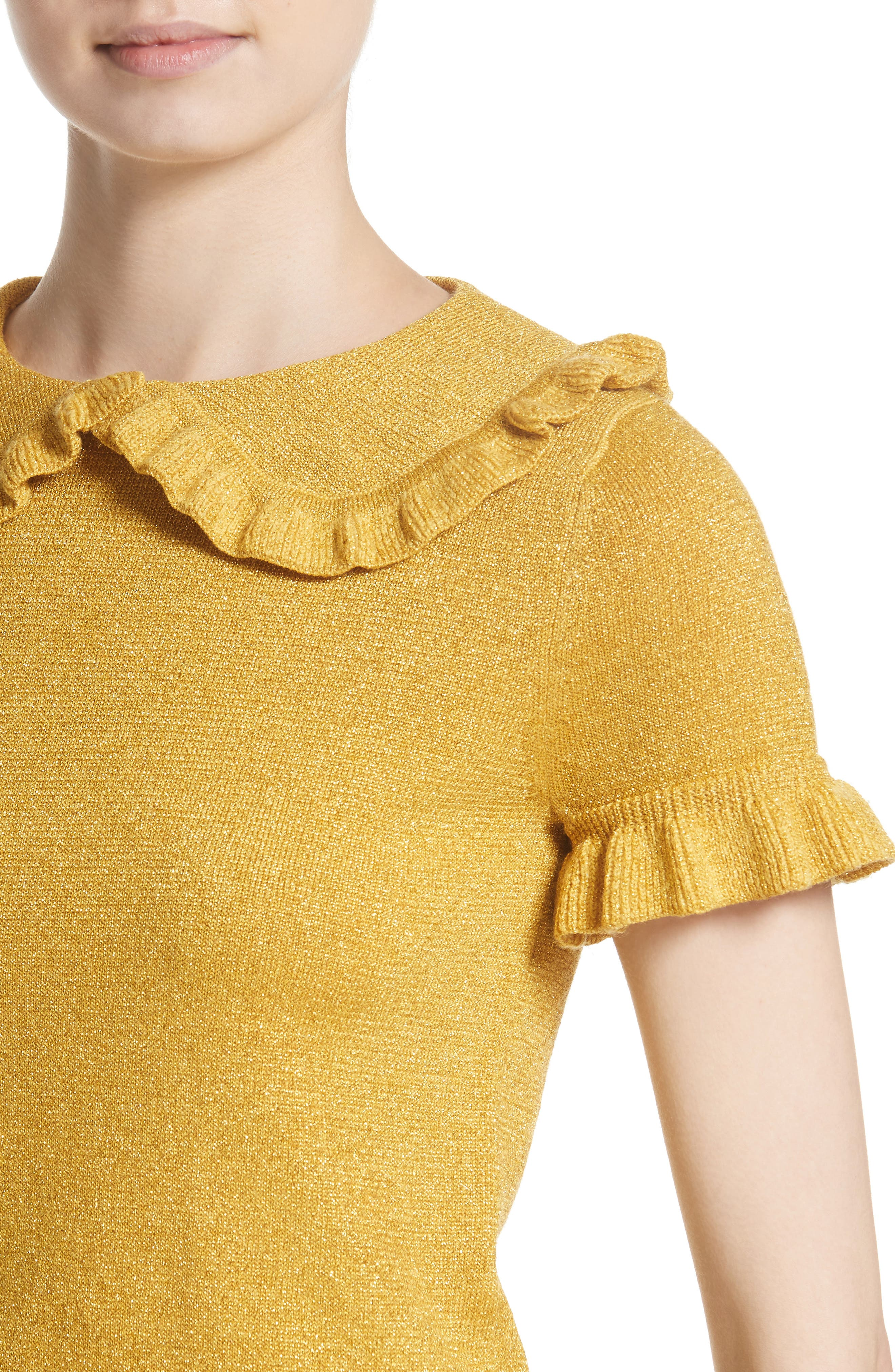 Campbell Frill Metallic Sweater,                             Alternate thumbnail 4, color,                             700