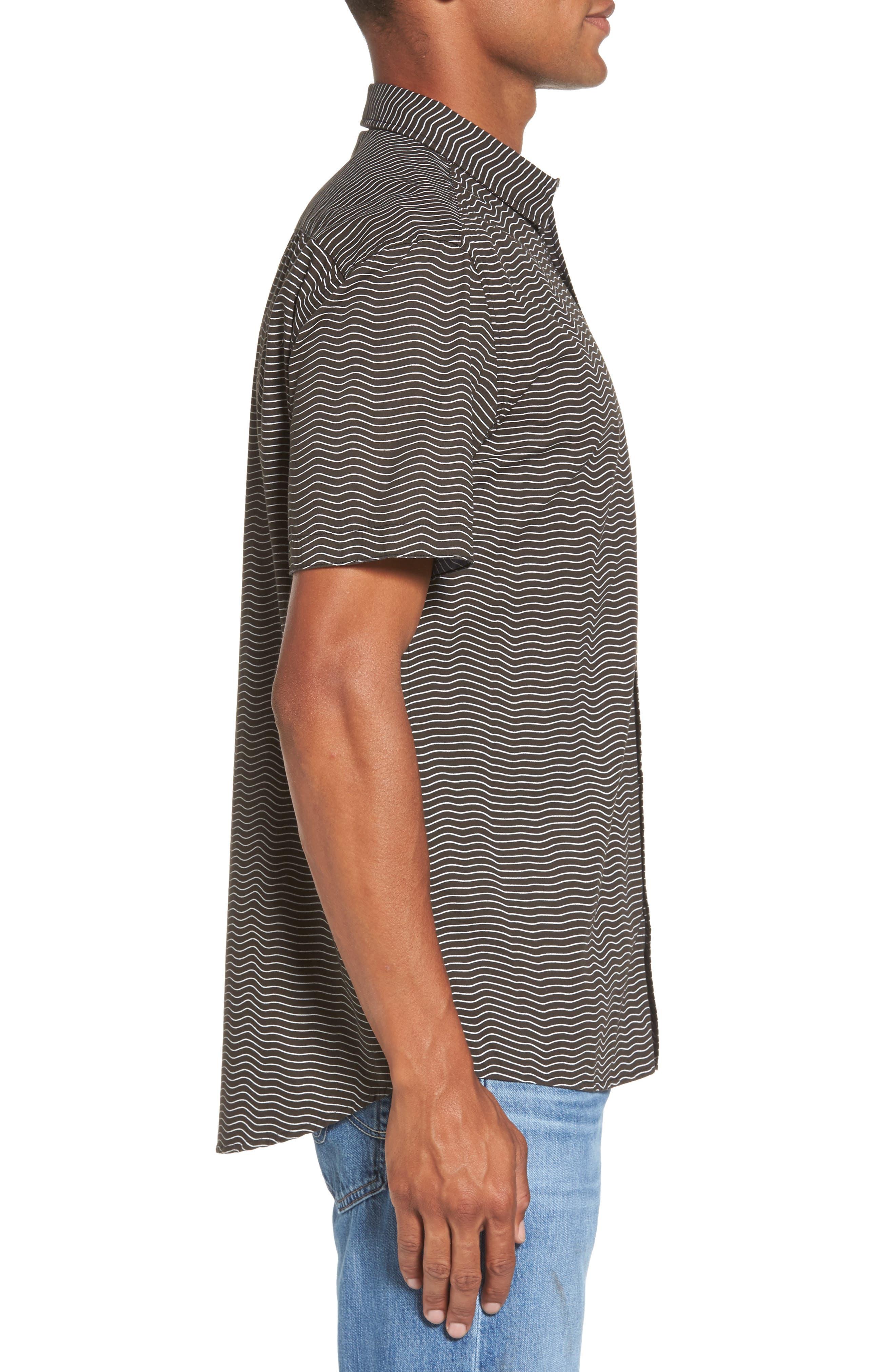 Heat Wave Stripe Shirt,                             Alternate thumbnail 3, color,                             002