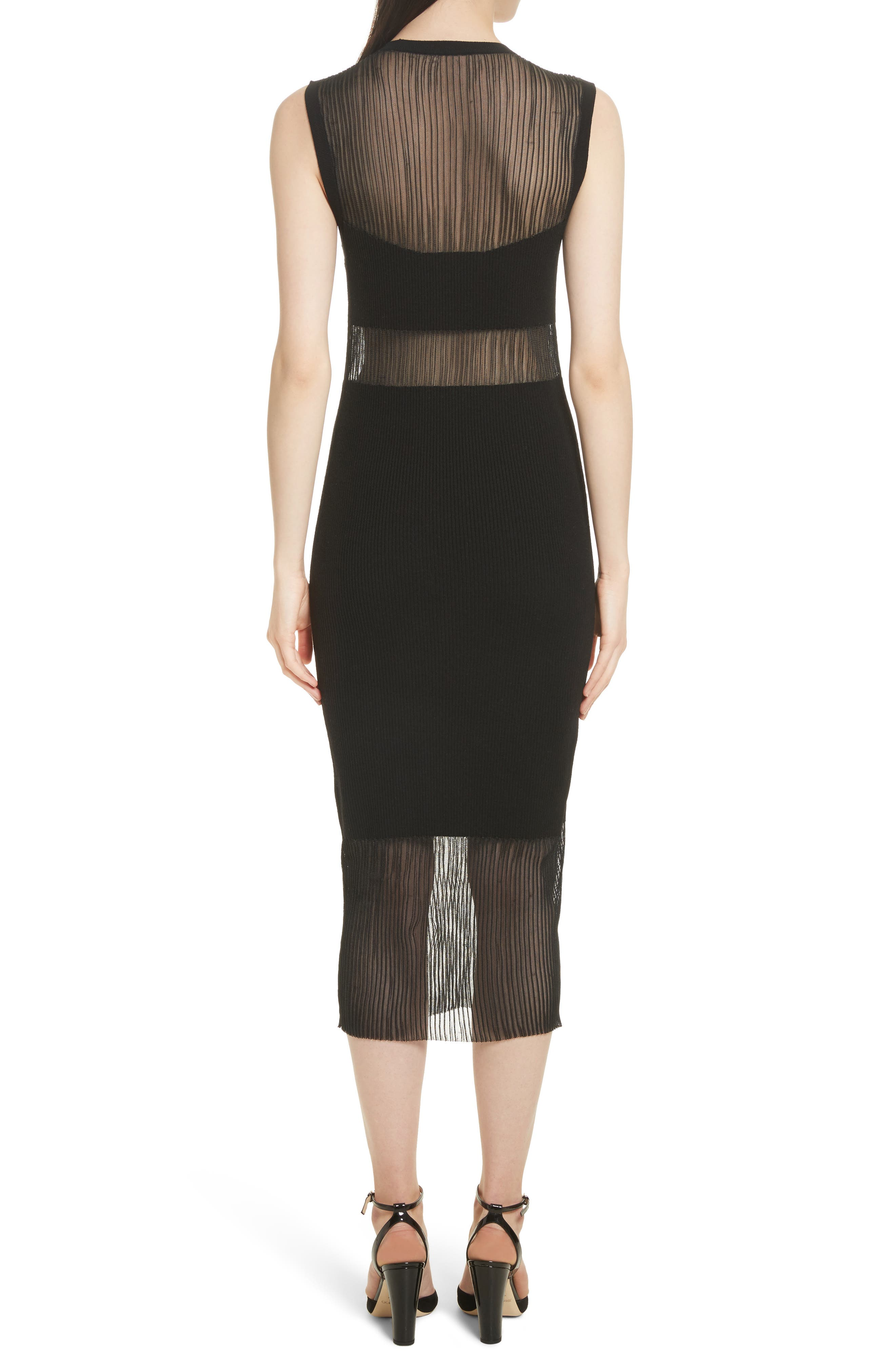 Jasmine Sheer Panel Body-Con Dress,                             Alternate thumbnail 2, color,