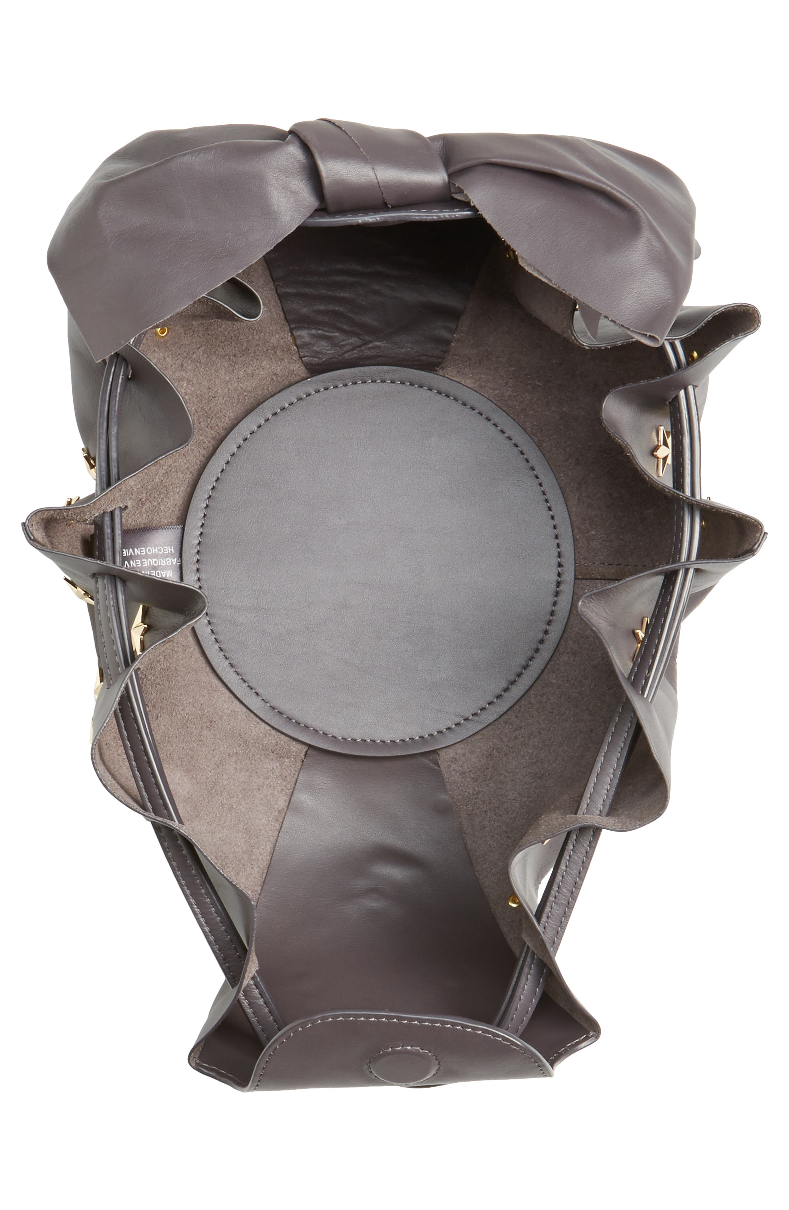 Soirée Star Stud Leather Crossbody Bag,                             Alternate thumbnail 4, color,                             020