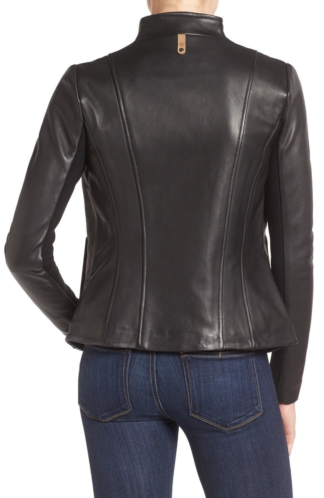 MACKAGE,                             Leather Jacket,                             Alternate thumbnail 2, color,                             001
