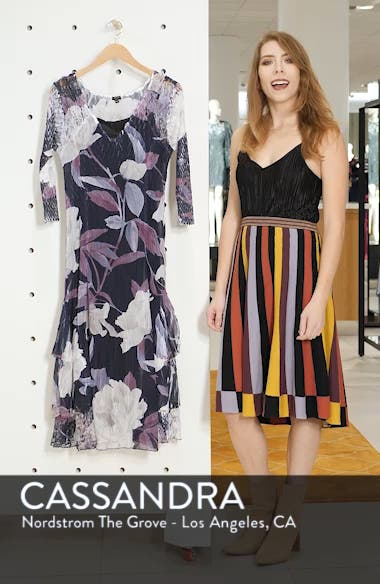 Floral Tiered Hem Dress, sales video thumbnail
