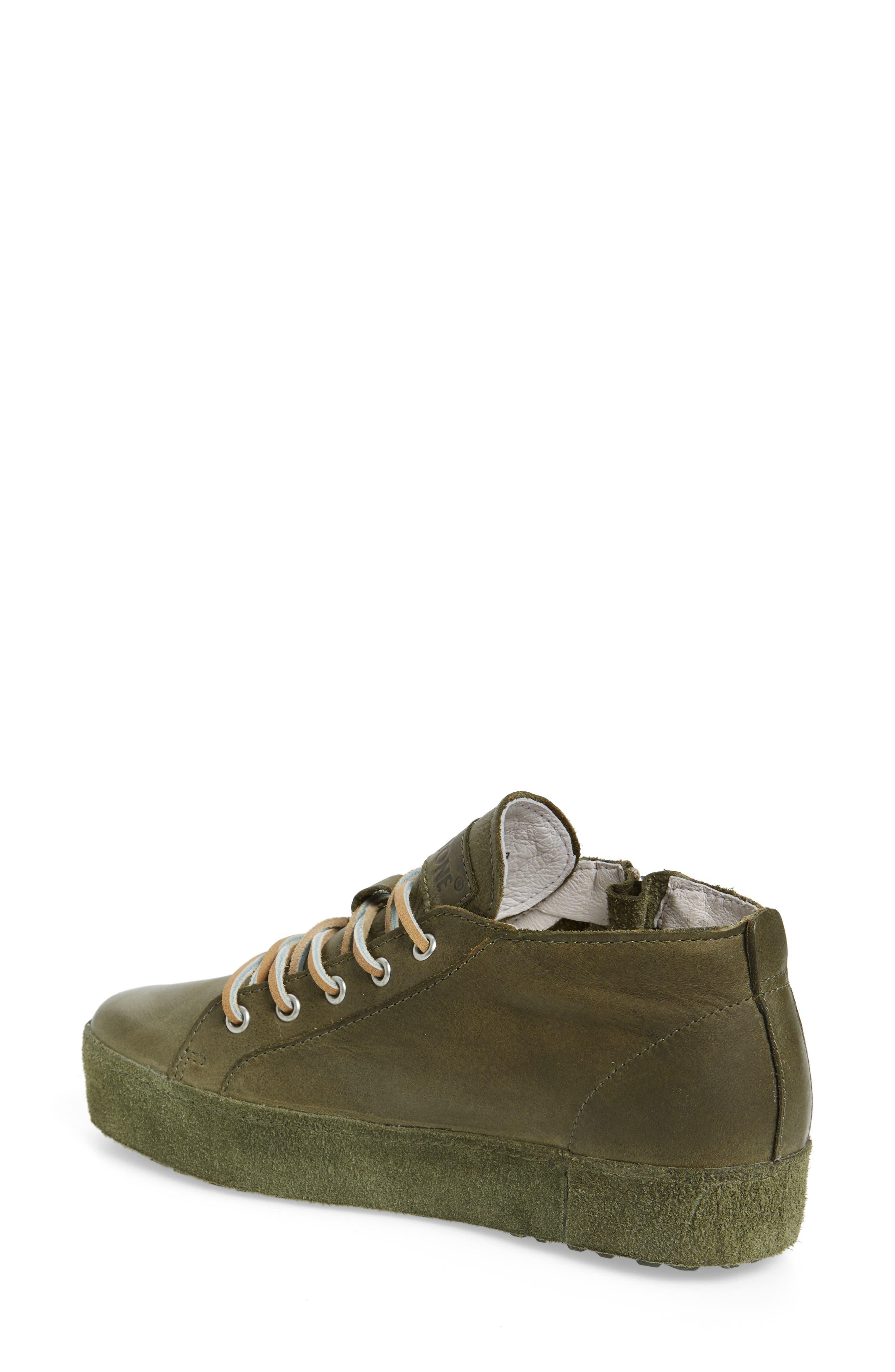 NL37 Midi Platform Sneaker,                             Alternate thumbnail 2, color,                             OLIVE LEATHER