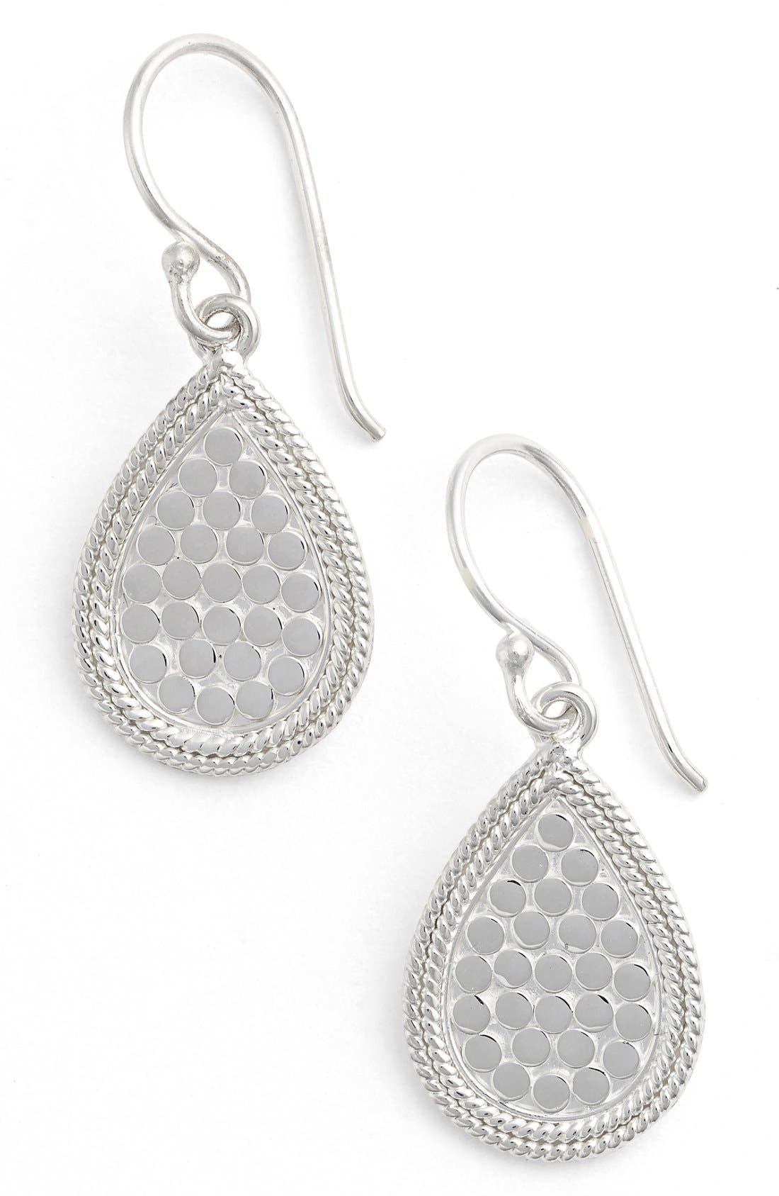 'Gili' Small Teardrop Earrings,                         Main,                         color, SILVER
