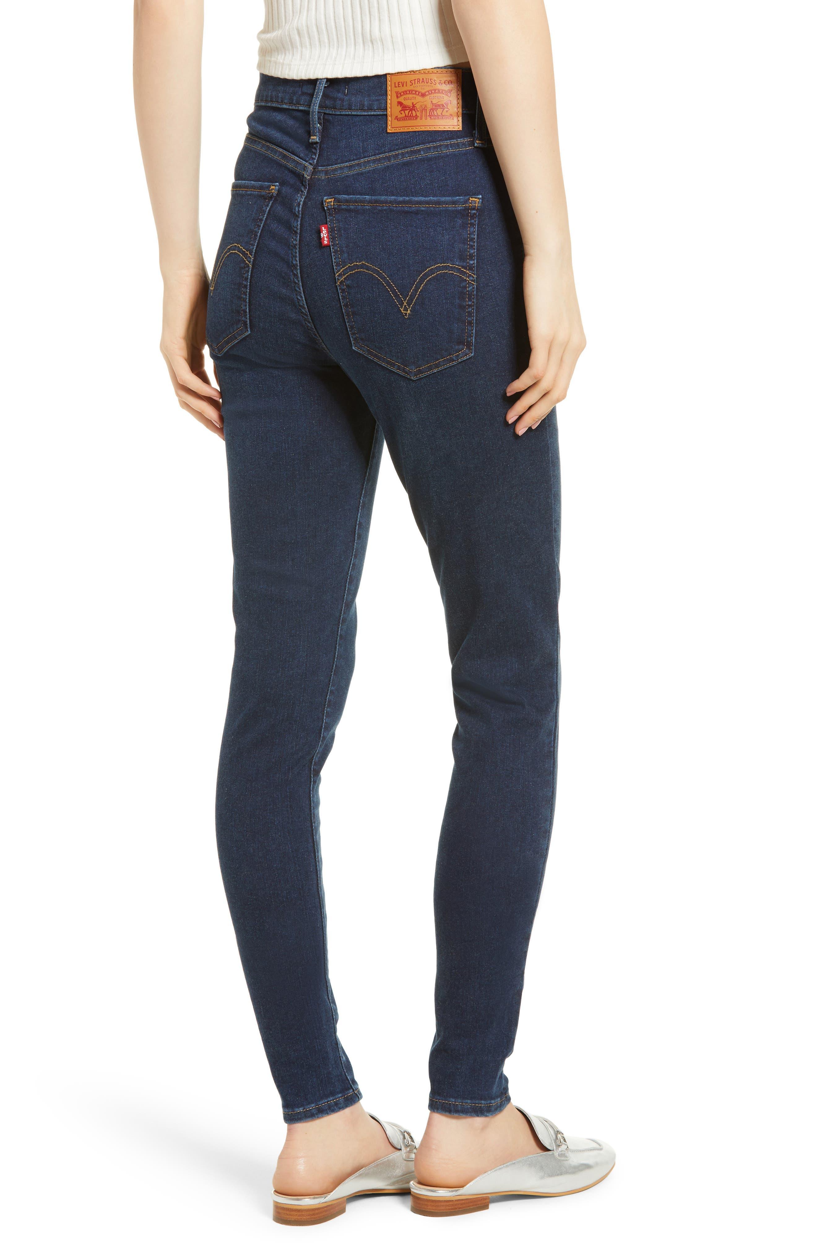 Mile High Super Skinny Jeans,                             Alternate thumbnail 2, color,                             JET SETTER