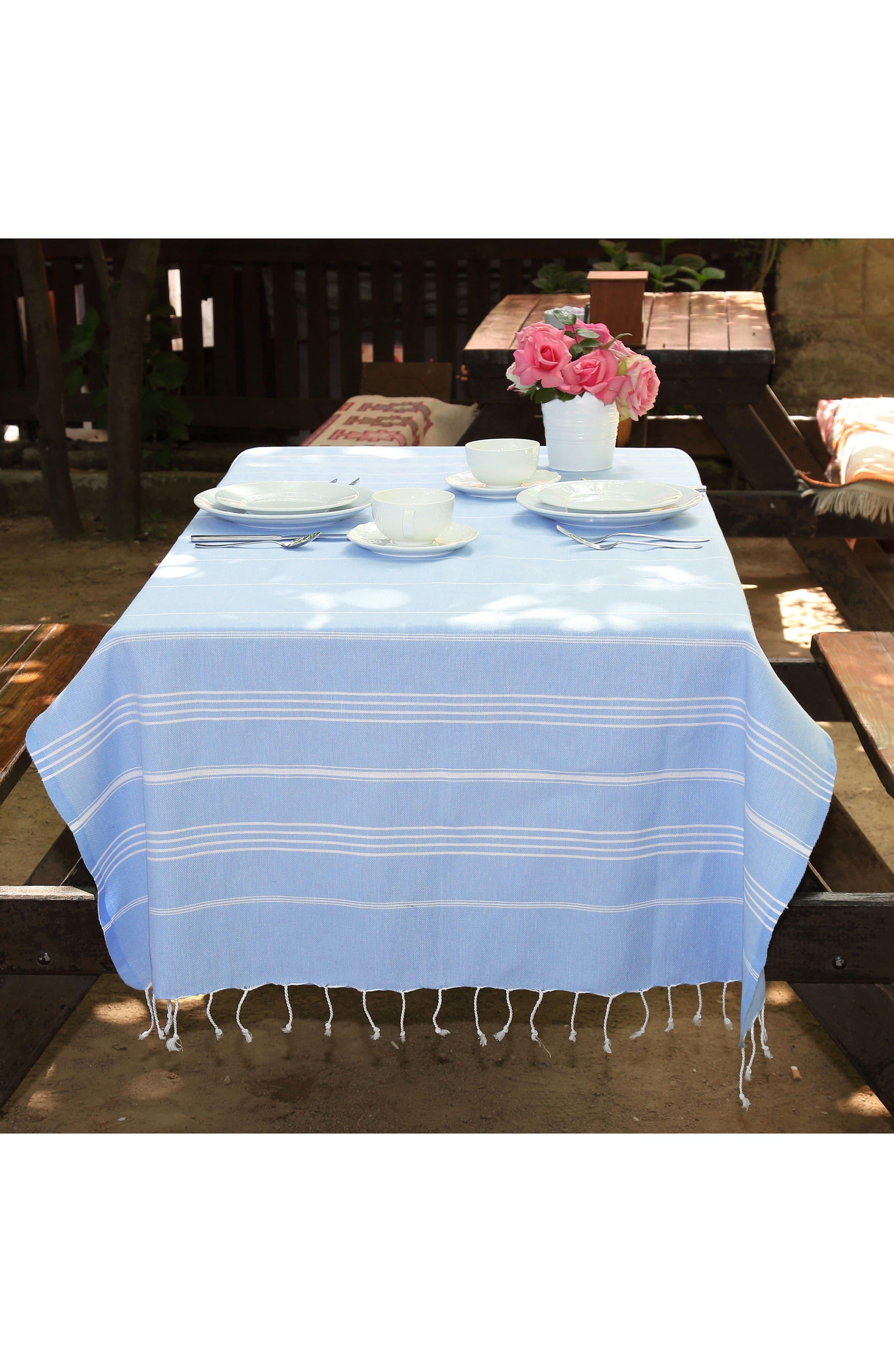 'Lucky' Turkish Pestemal Towel,                             Alternate thumbnail 2, color,                             SKY BLUE