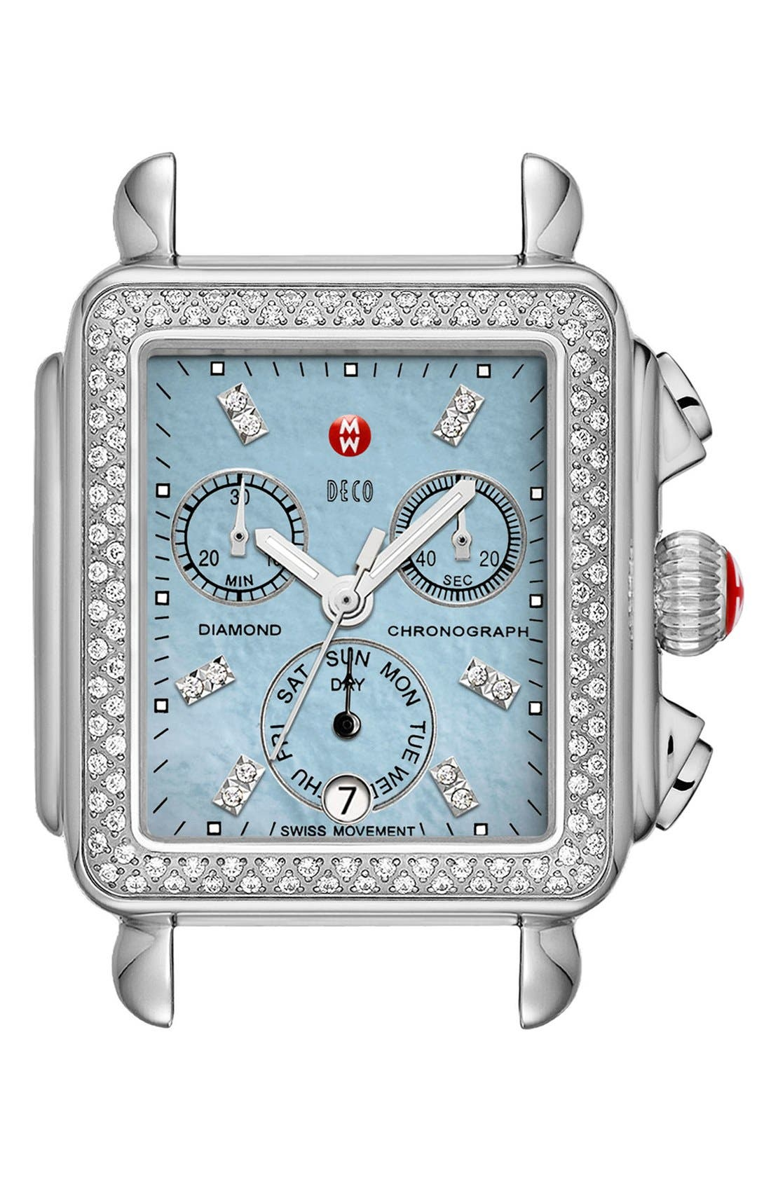 Deco Diamond Dial Gold Plated Watch Case, 33mm x 35mm,                             Main thumbnail 5, color,