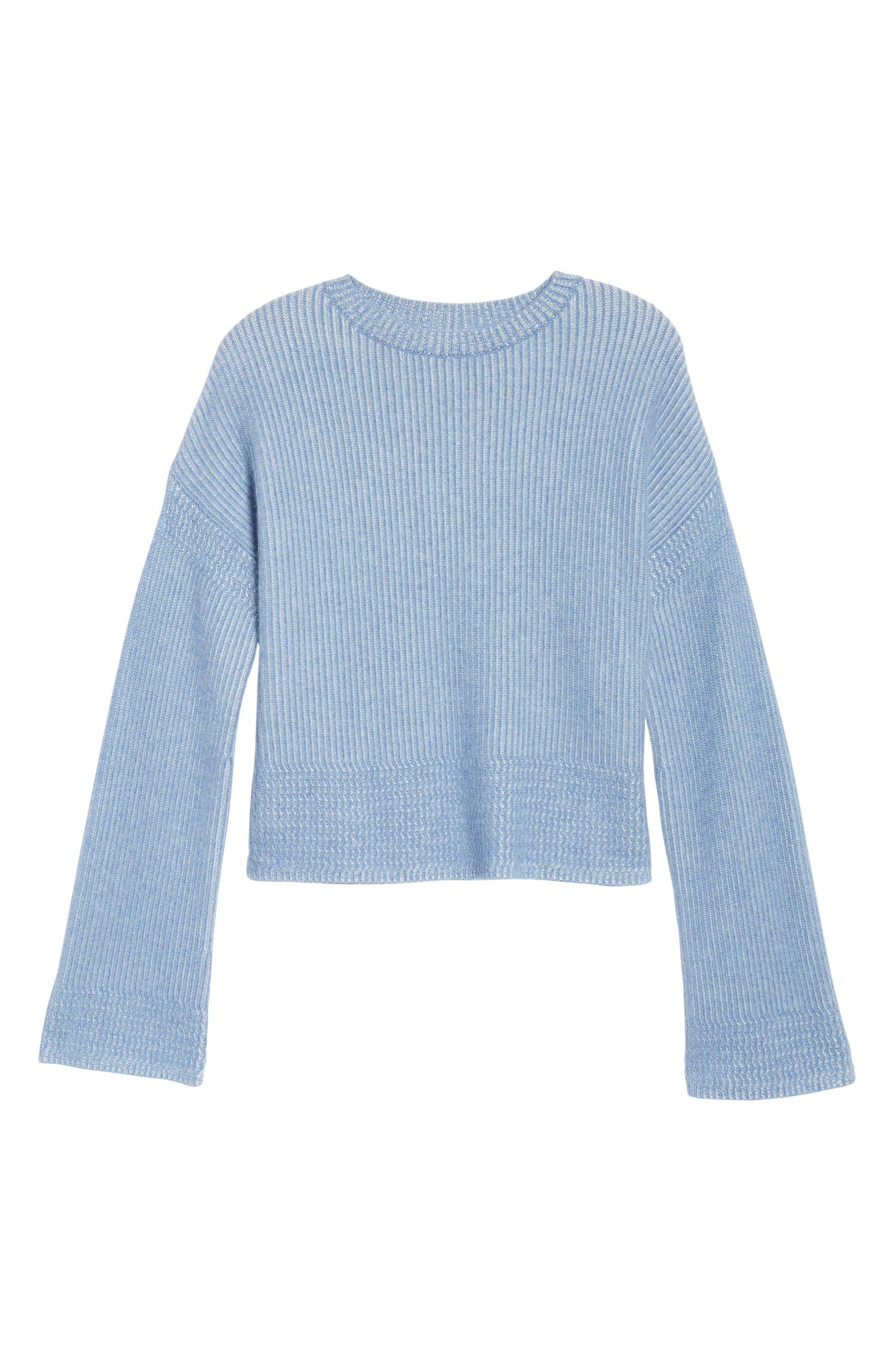 Cashmere & Silk Blend Plaited Pullover,                             Alternate thumbnail 6, color,                             420