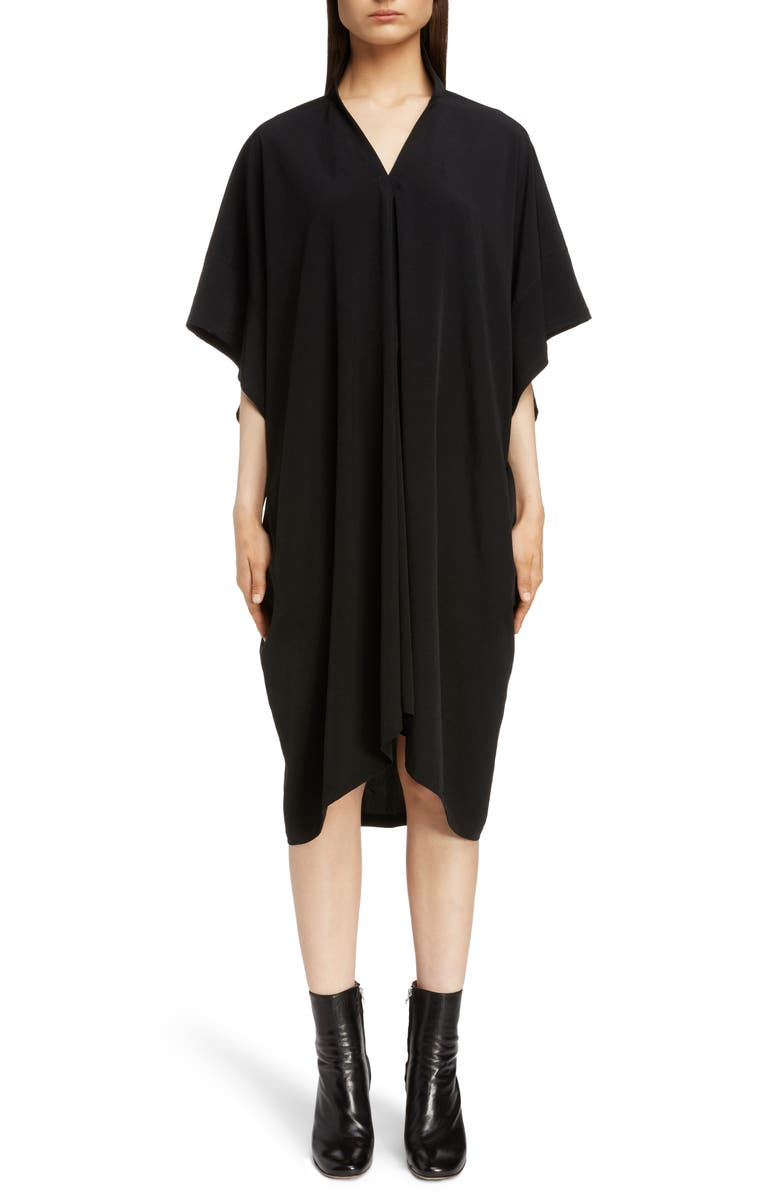 Y's STAND COLLAR FLARE DRESS