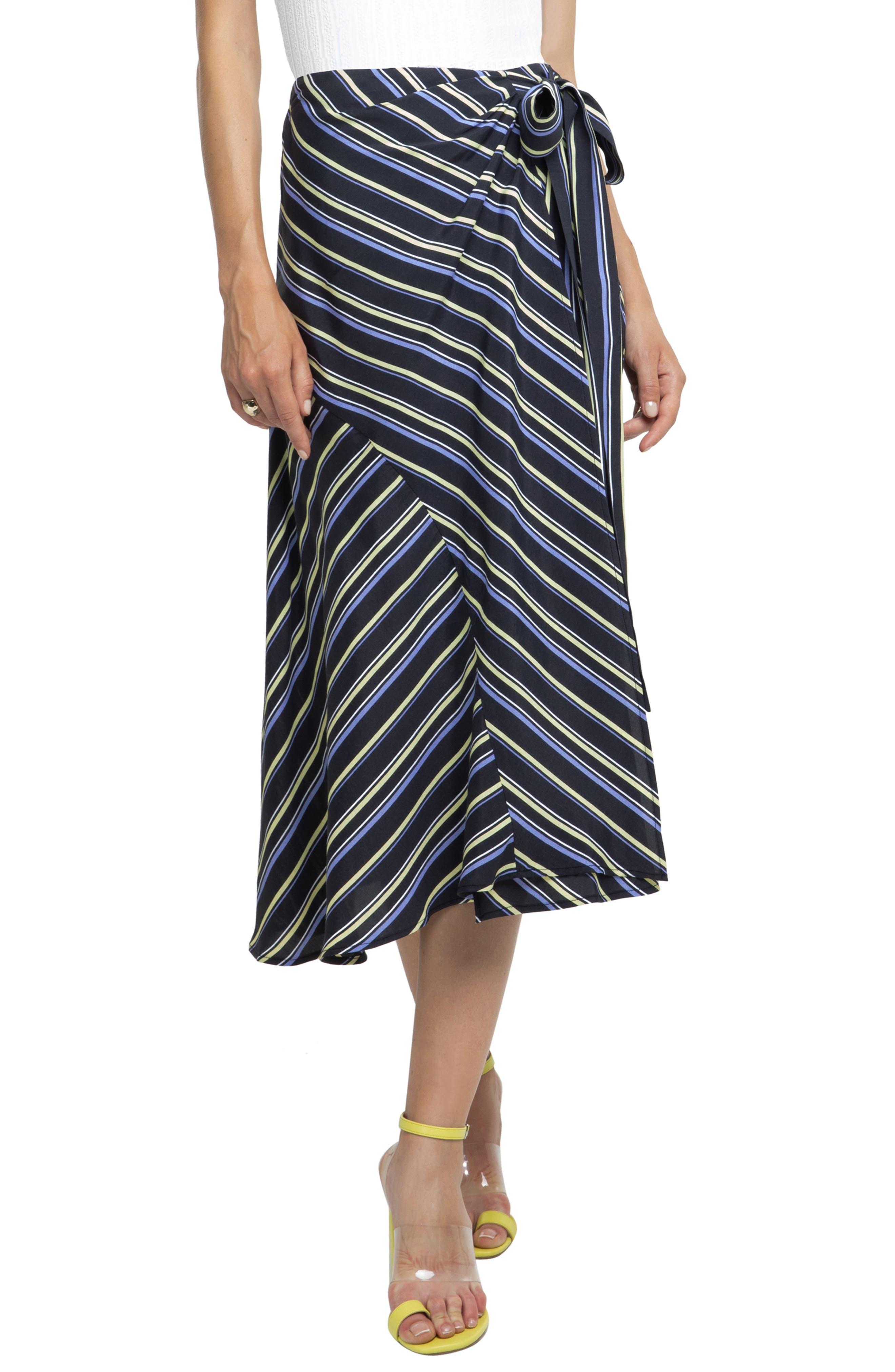 Astr The Label Stripe Midi Skirt