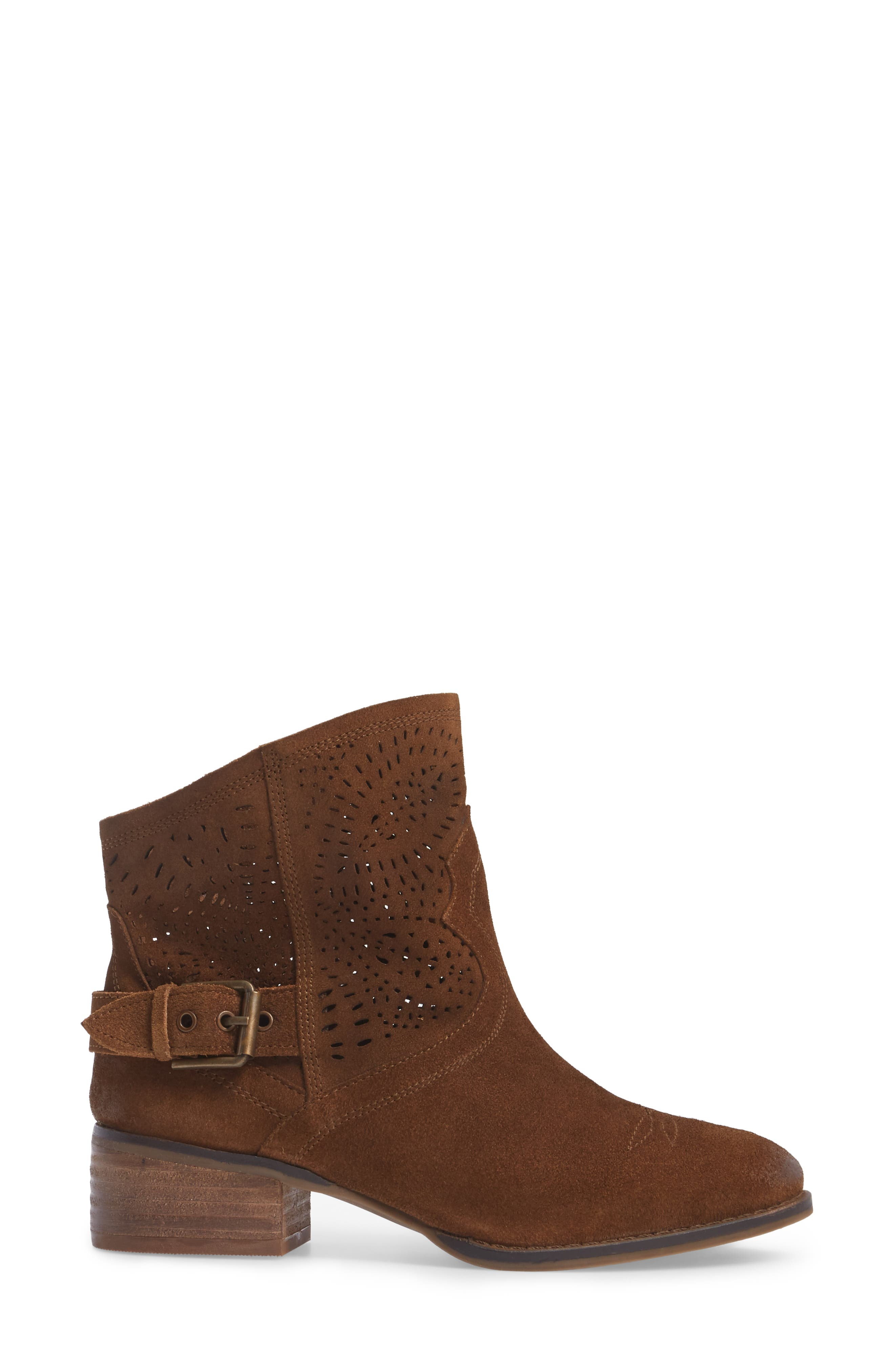 Zoey Perforated Bootie,                             Alternate thumbnail 10, color,