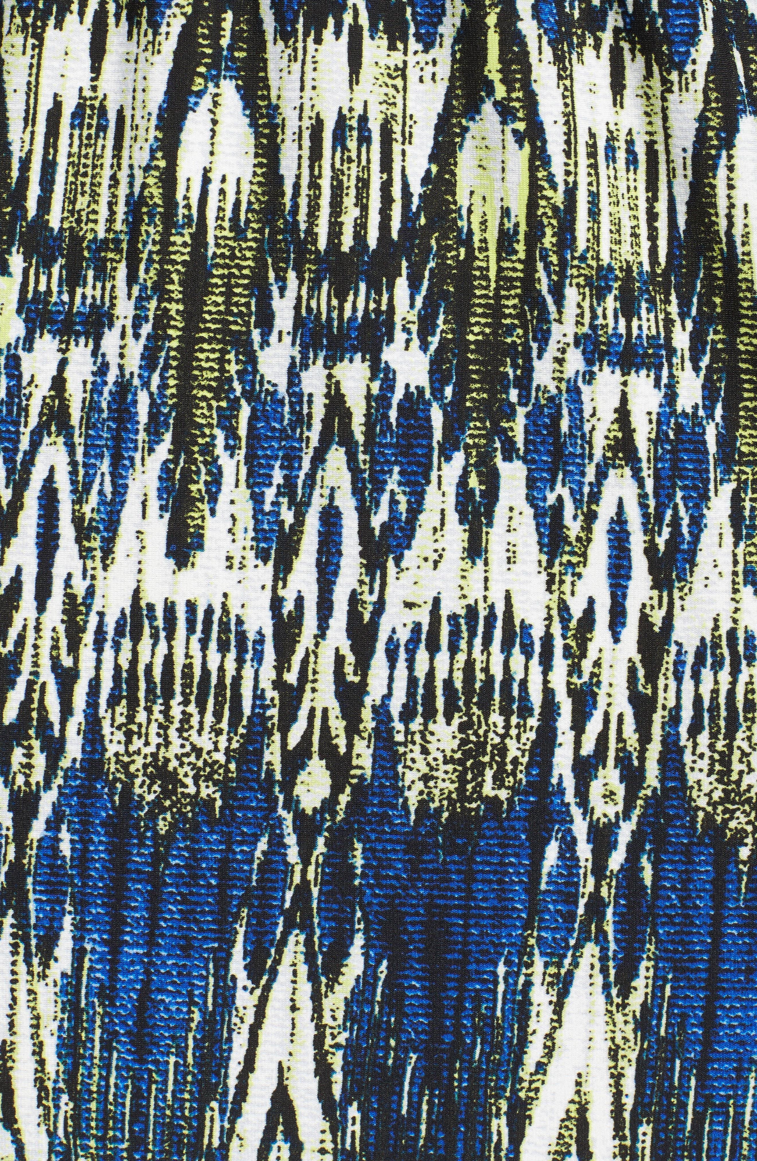 Print Jersey Blouson Dress,                             Alternate thumbnail 5, color,