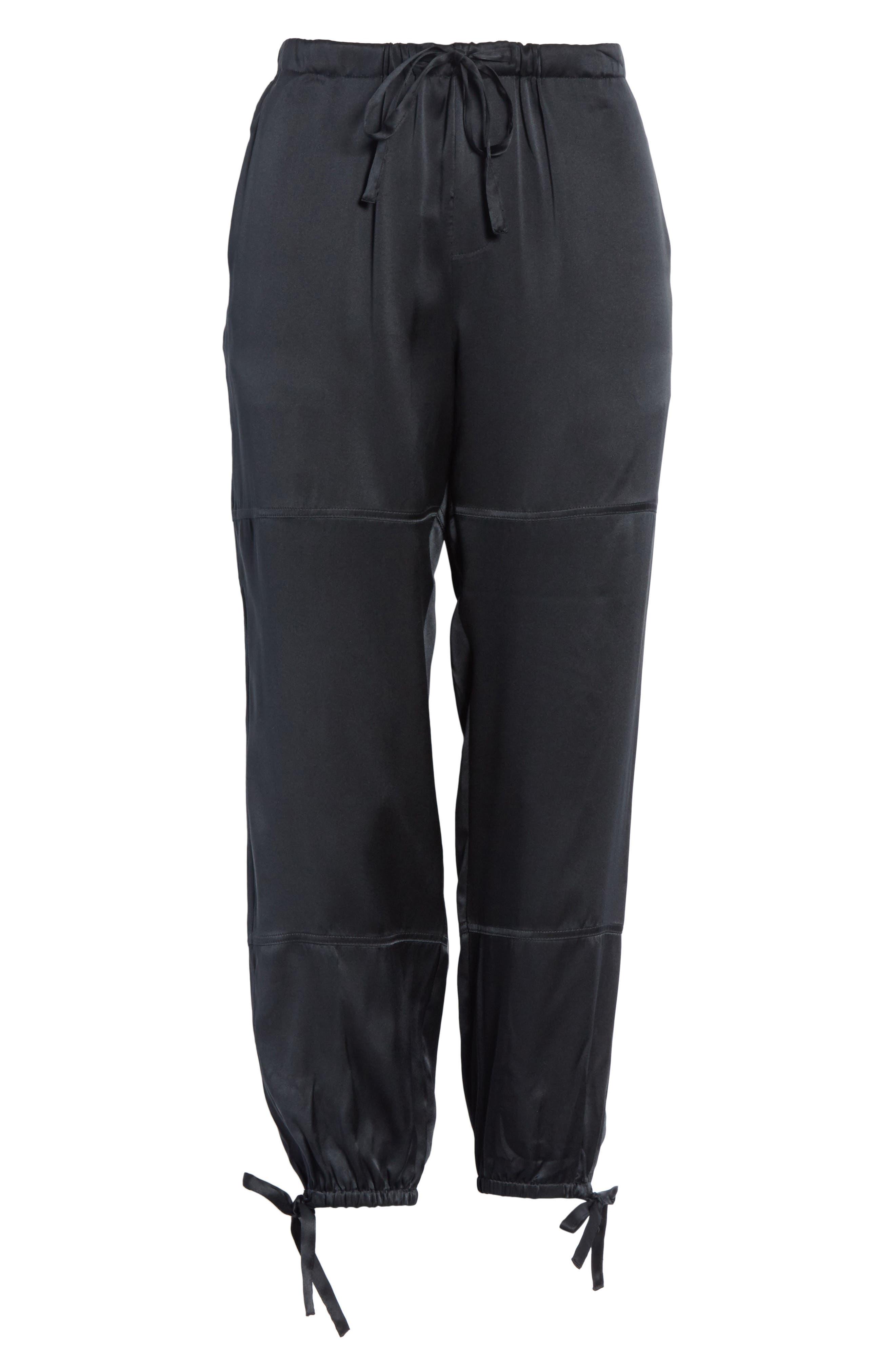 Dyre D Silk Jogger Pants,                             Alternate thumbnail 6, color,                             002