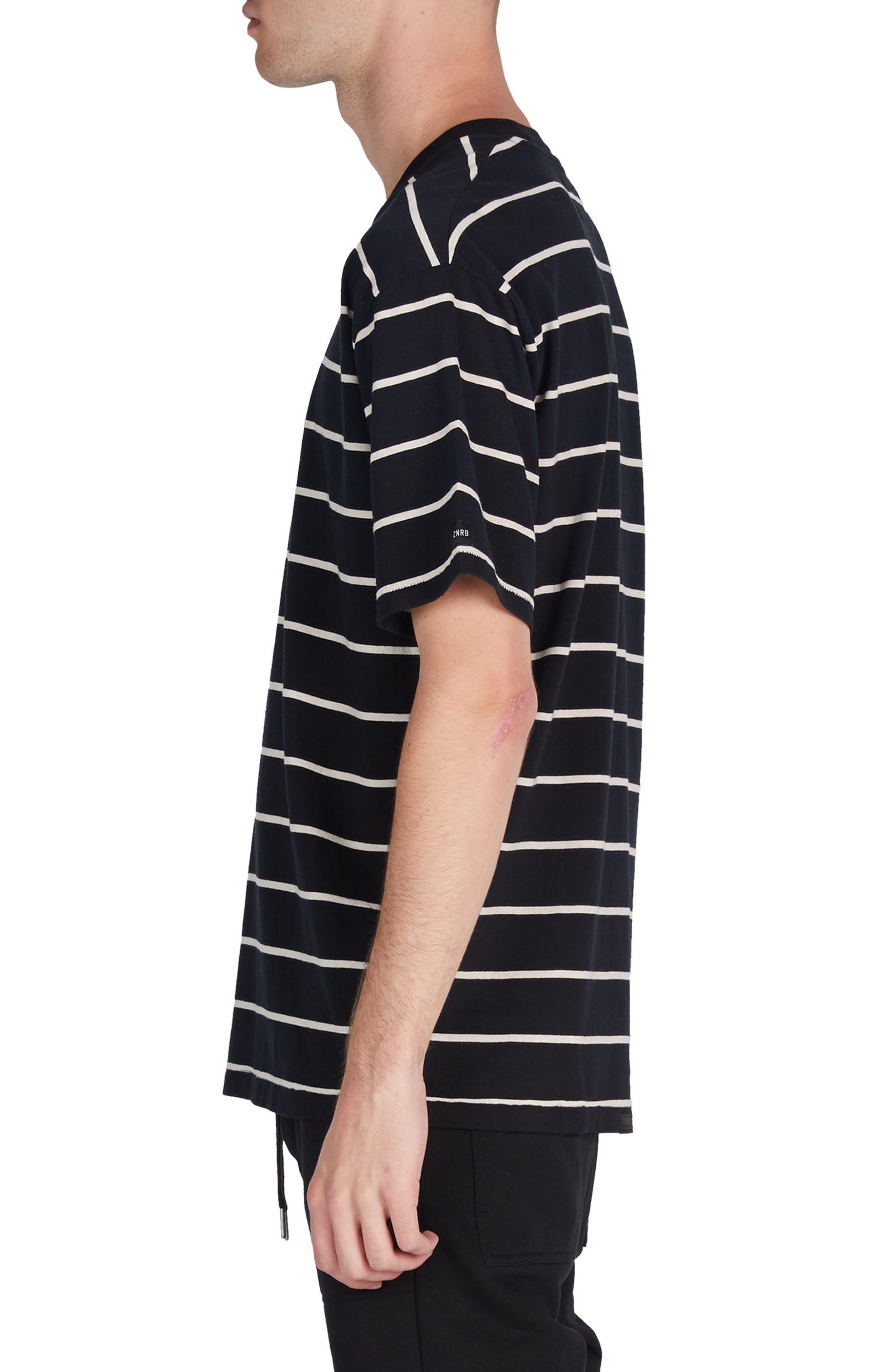 Box Stripes T-Shirt,                             Alternate thumbnail 3, color,                             001