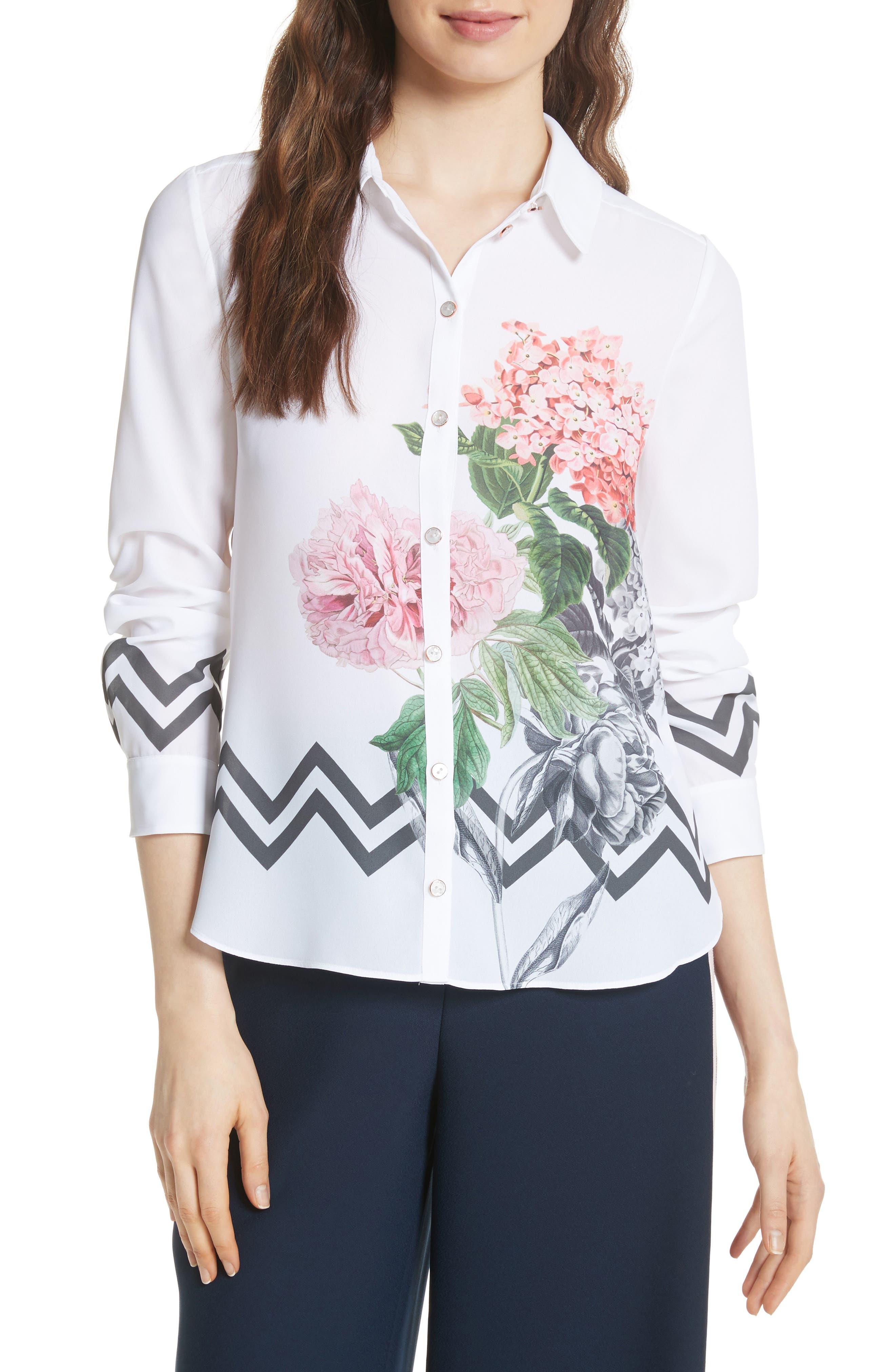Palace Gardens Shirt,                         Main,                         color, 110