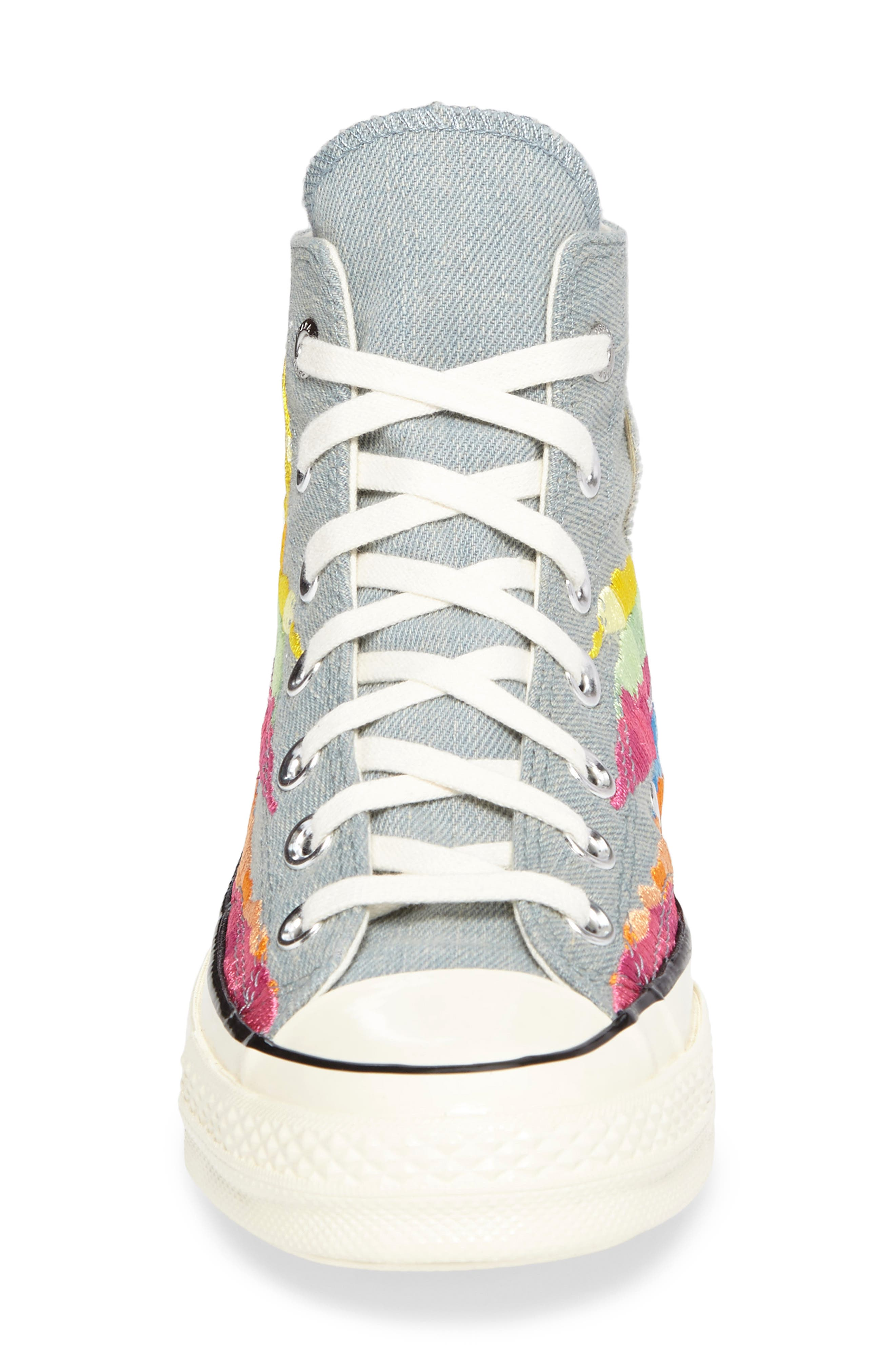 x Mara Hoffman All Star<sup>®</sup> Embroidered High Top Sneaker,                             Alternate thumbnail 8, color,