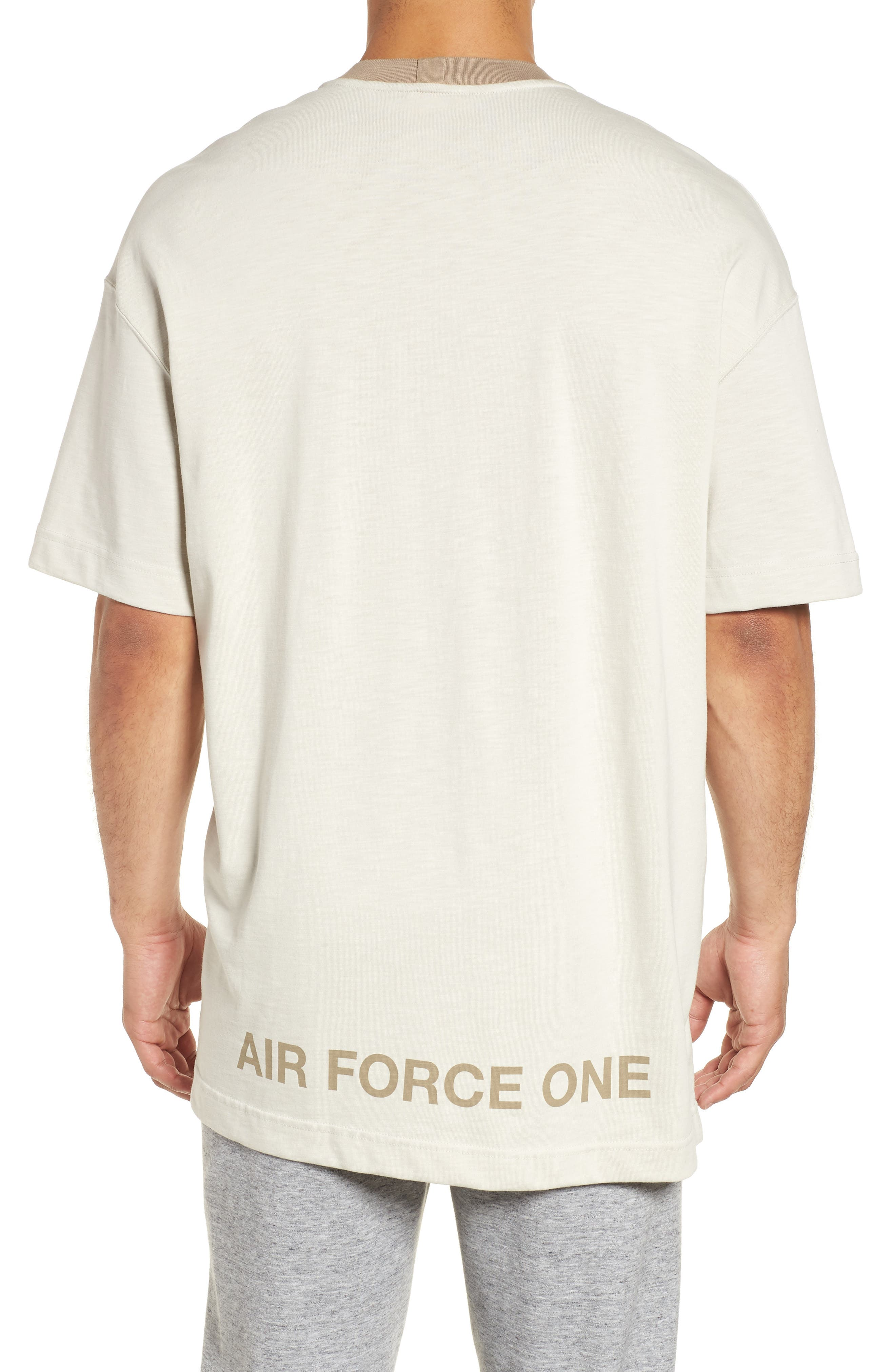 Sportswear AF1 Graphic T-Shirt,                             Alternate thumbnail 2, color,                             LIGHT BONE/ KHAKI