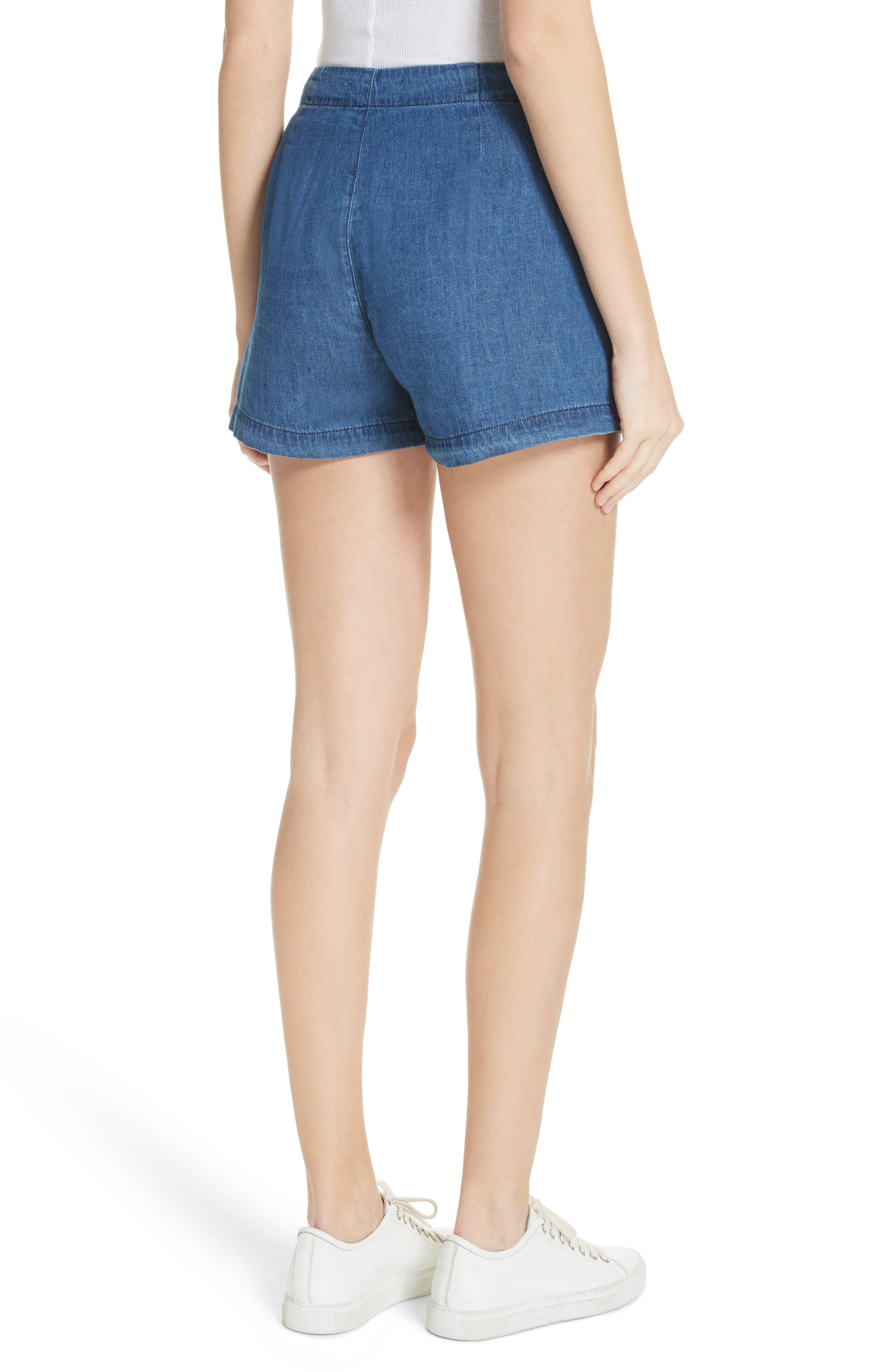 Amy Button Front Denim Shorts,                             Alternate thumbnail 2, color,                             ABELLA SHORT