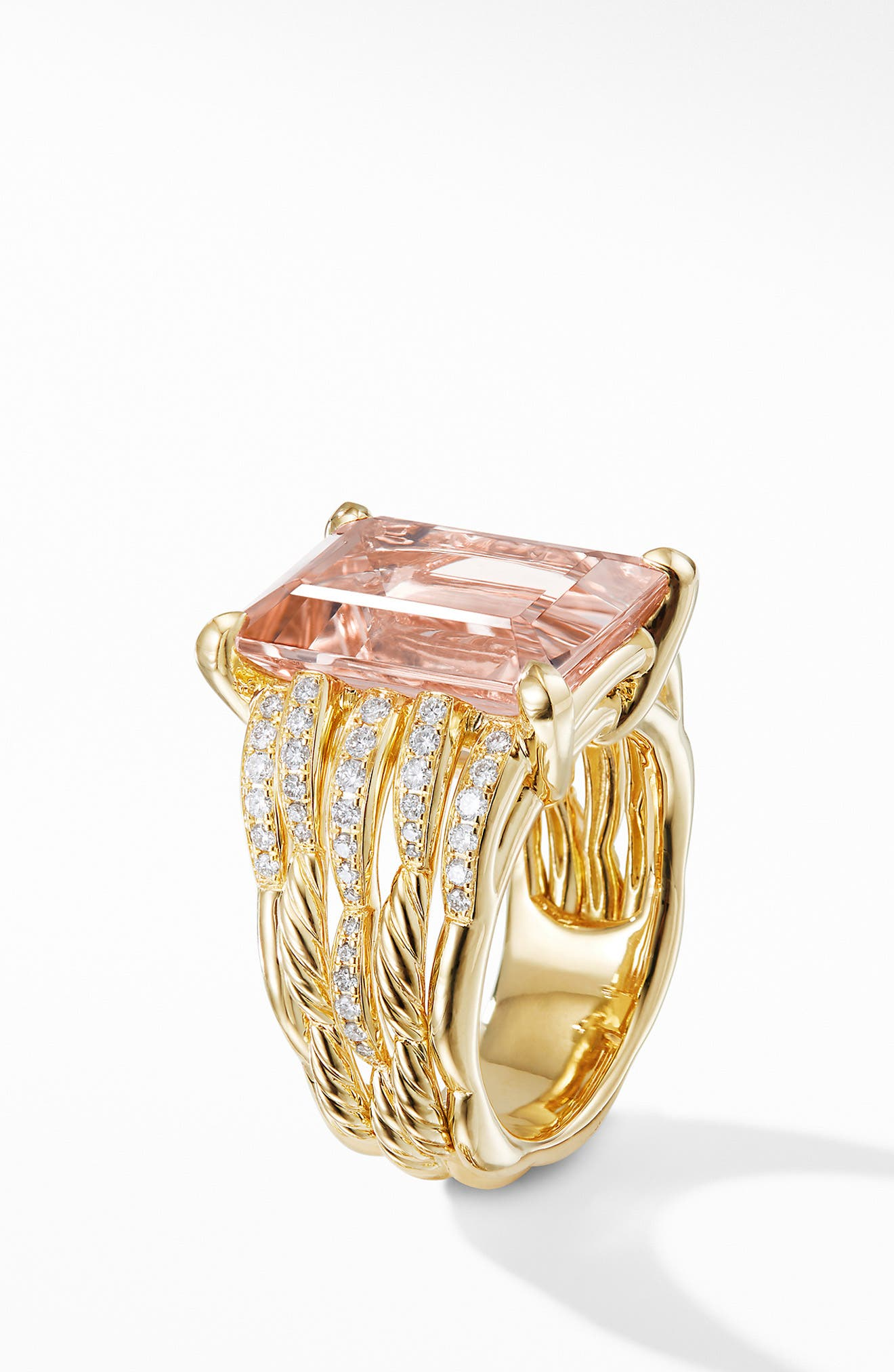 Tides Woven Ring in 18K Yellow Gold with Diamonds,                             Alternate thumbnail 2, color,                             650
