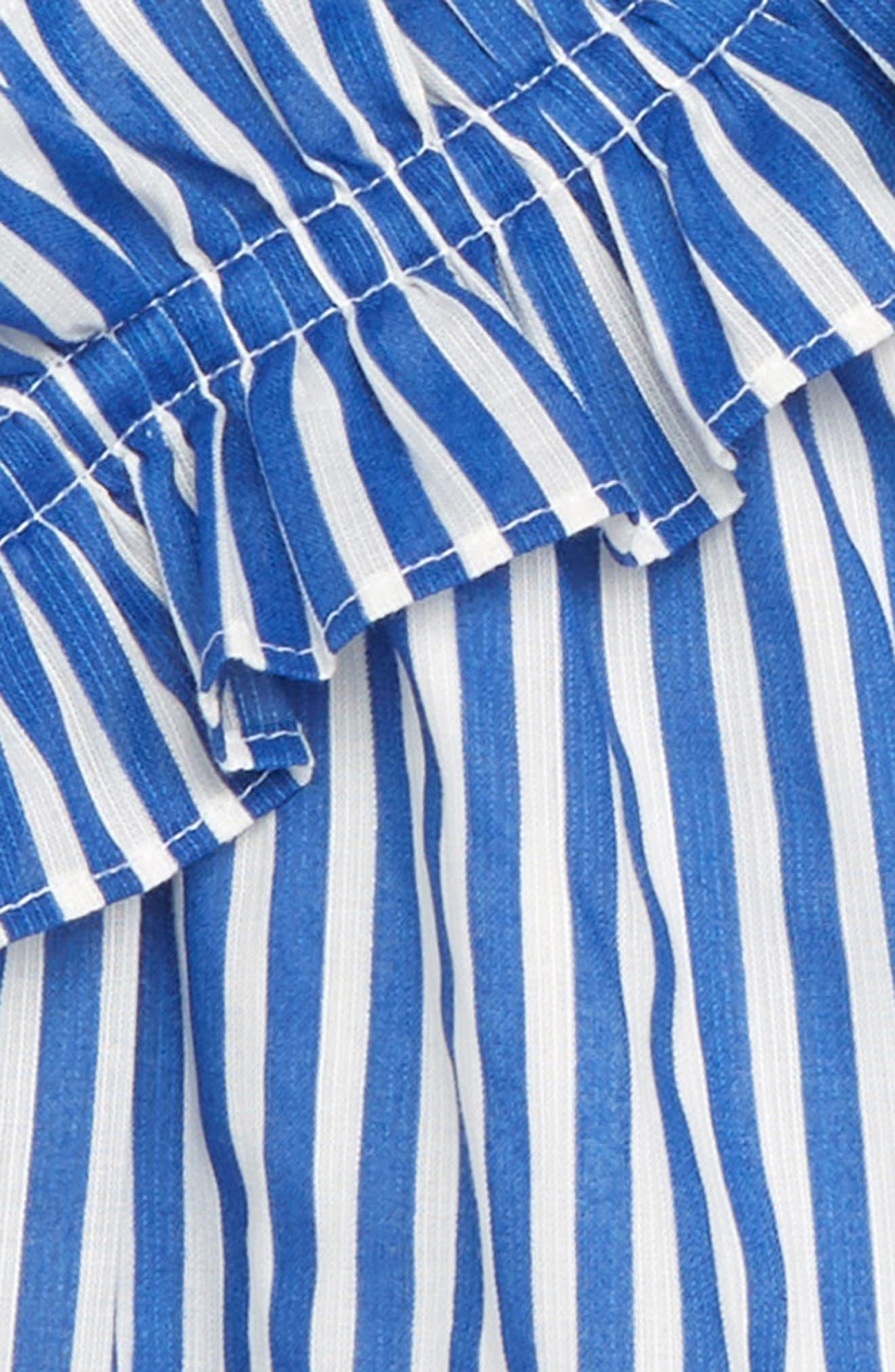 Stripe Asymmetrical Ruffle Top,                             Alternate thumbnail 2, color,                             400