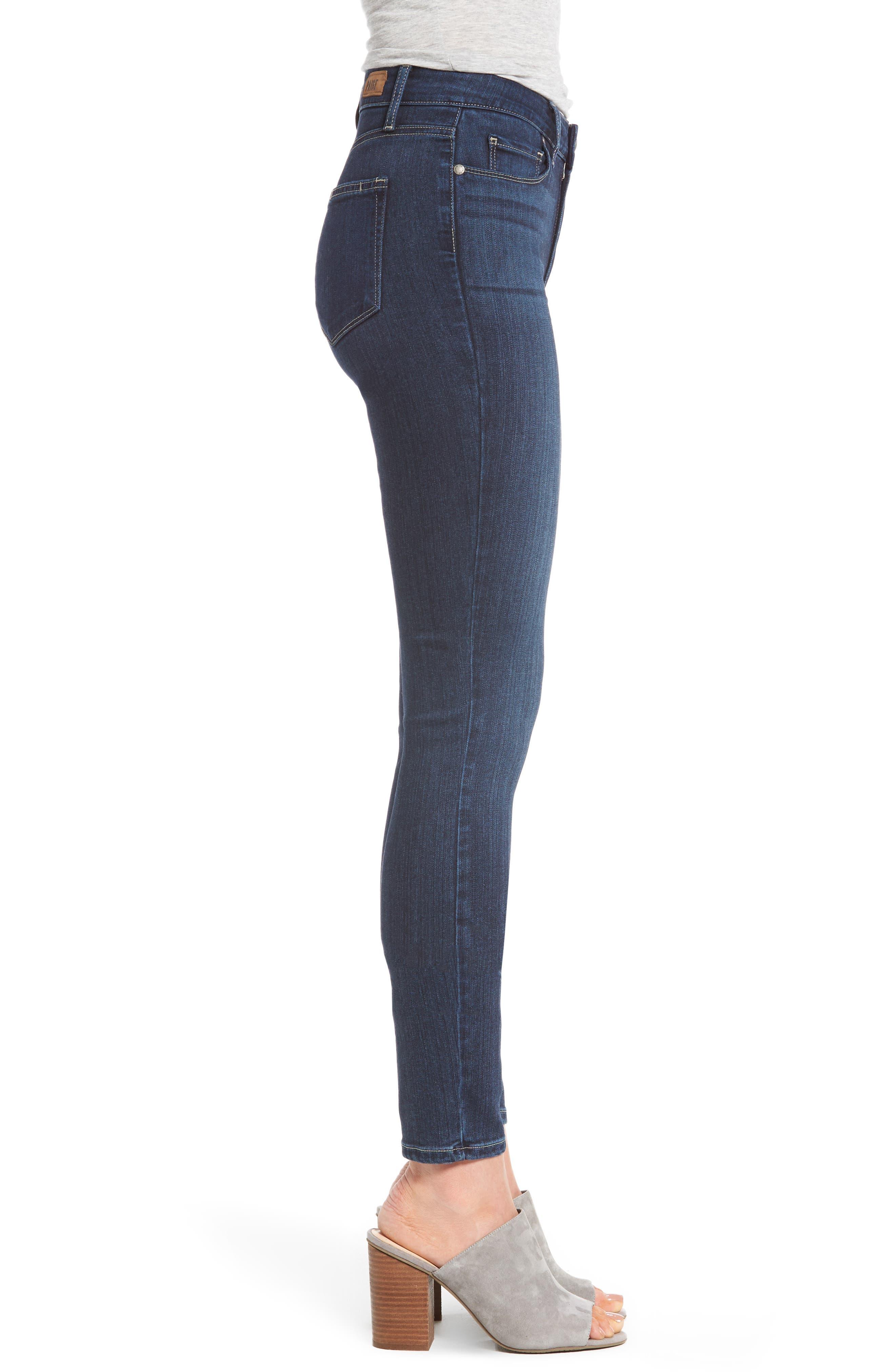 Transcend - Hoxton High Waist Ankle Skinny Jeans,                             Alternate thumbnail 3, color,                             400
