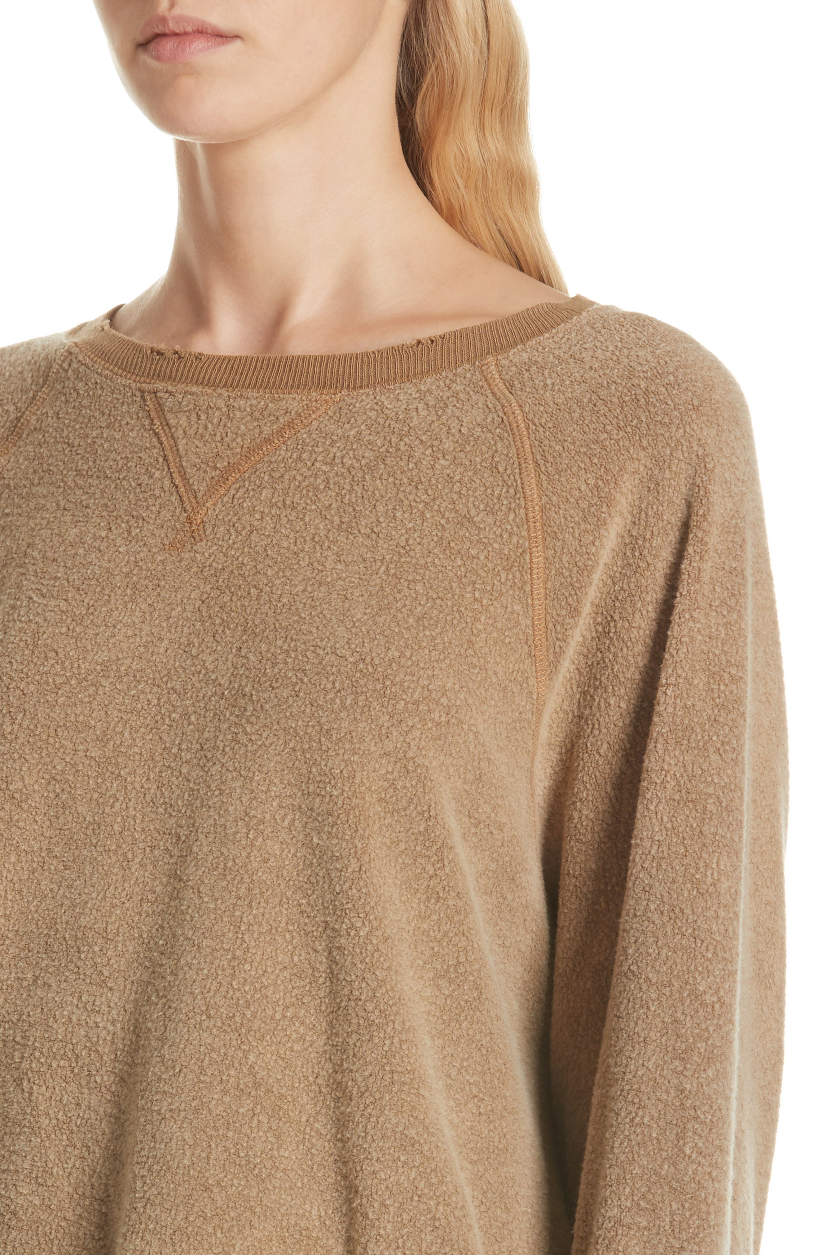 Slouch Sweatshirt,                             Alternate thumbnail 4, color,                             CAMEL