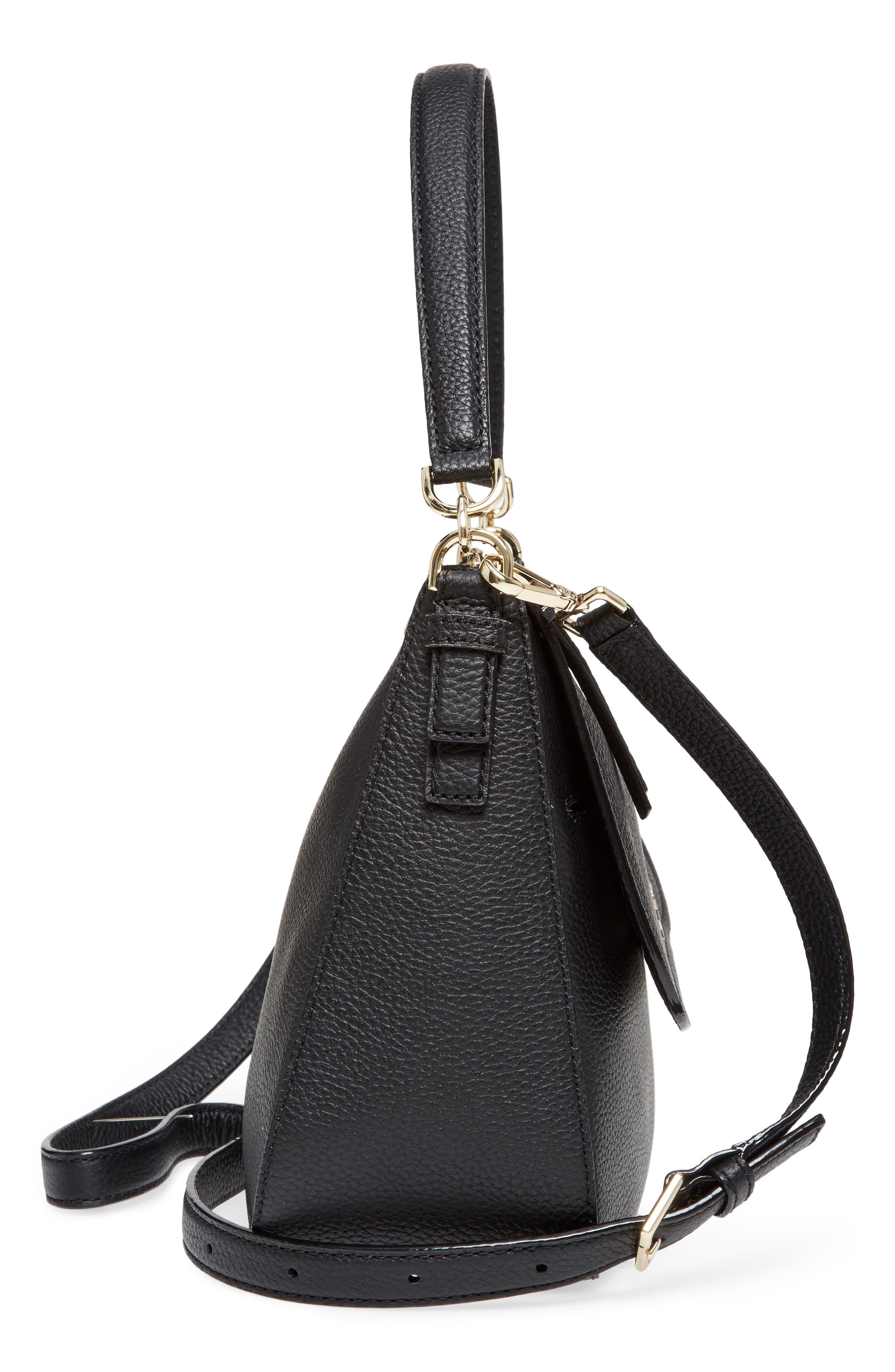 jackson street - colette leather satchel,                             Alternate thumbnail 5, color,                             BLACK