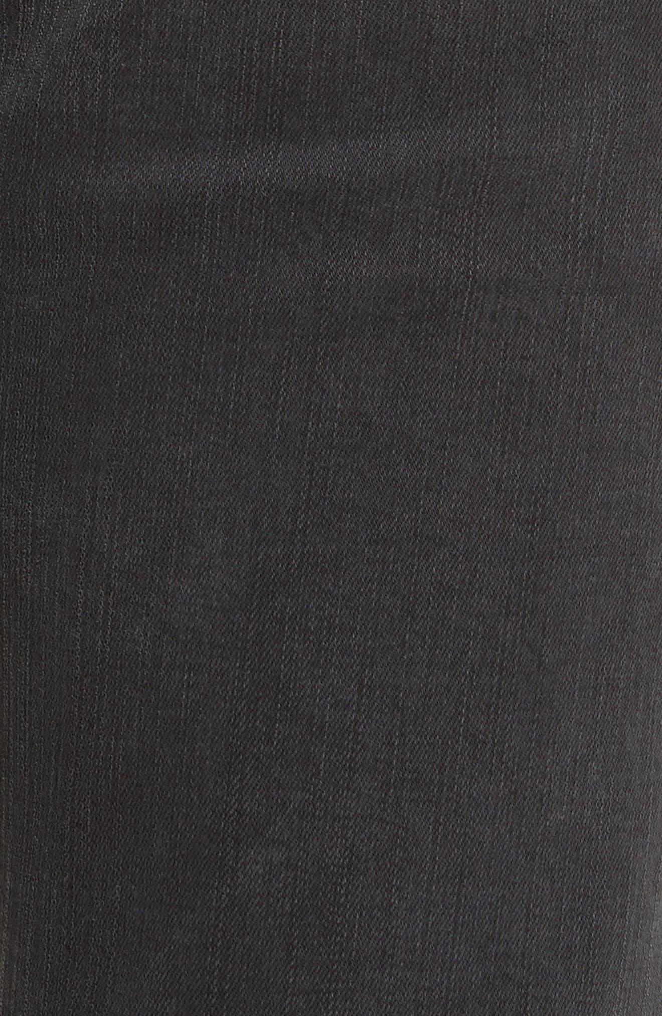 Le Nouveau Straight Split Hem Skinny Jeans,                             Alternate thumbnail 6, color,                             020