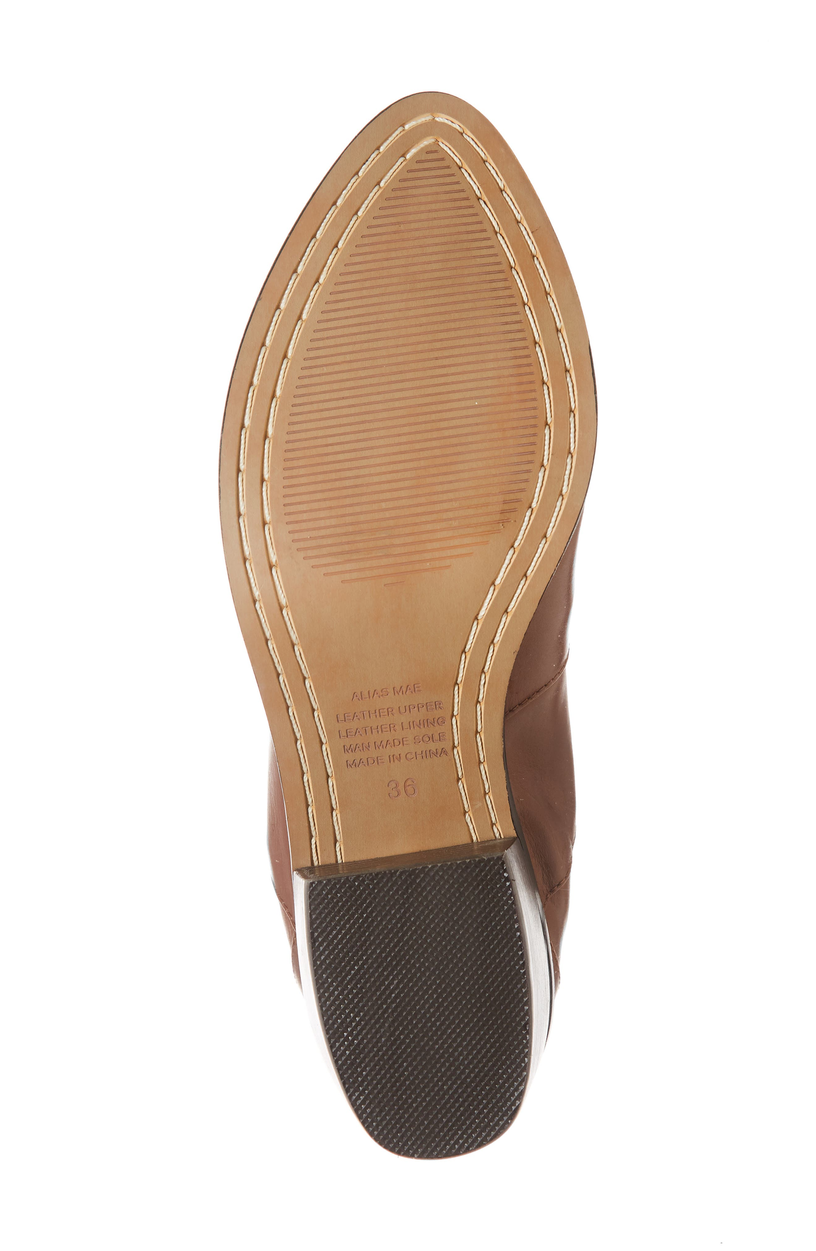 Genesis Bootie,                             Alternate thumbnail 6, color,                             TAN LEATHER