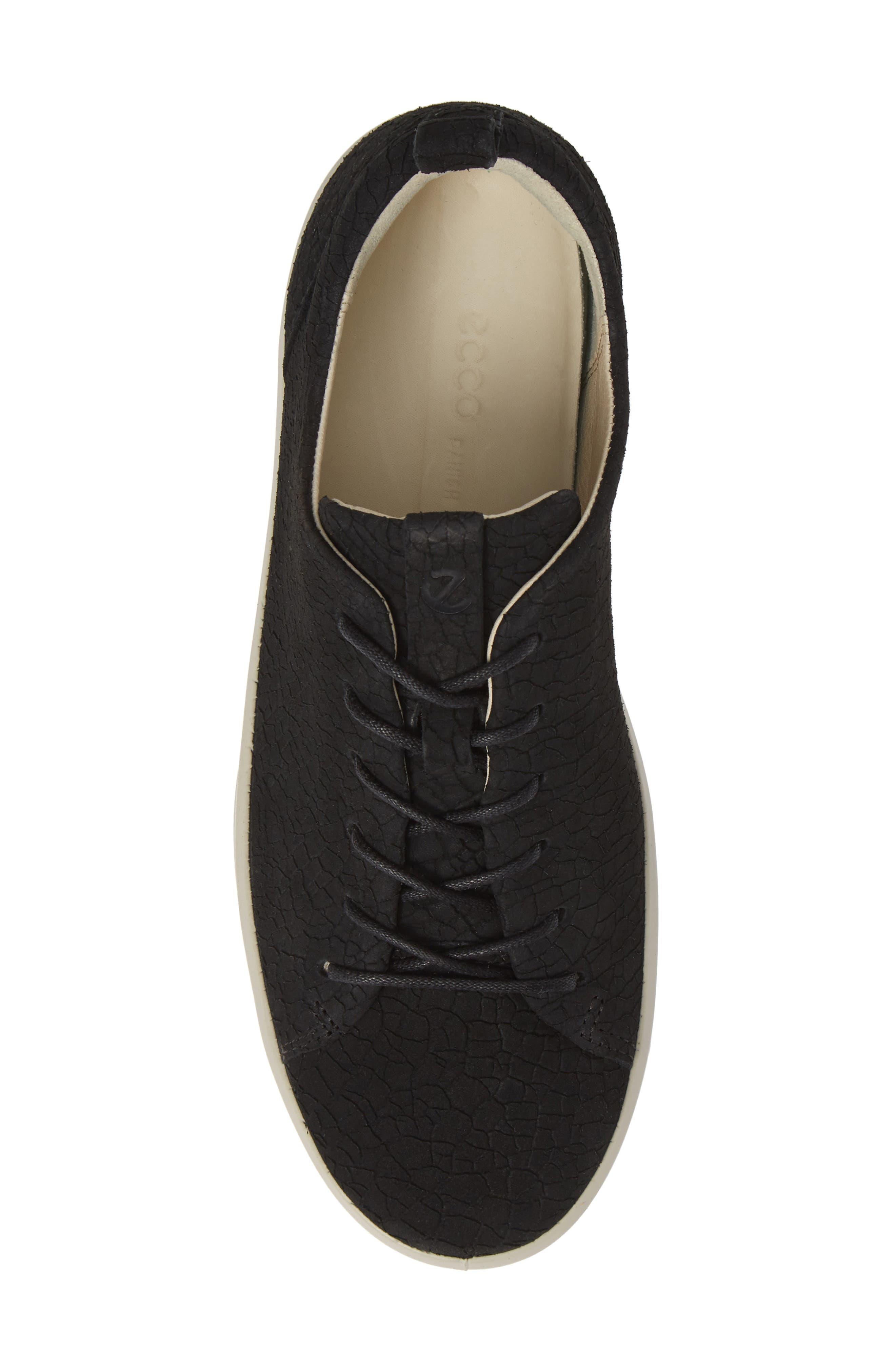 Soft 8 Sneaker,                             Alternate thumbnail 5, color,                             BLACK CRACKLED LEATHER